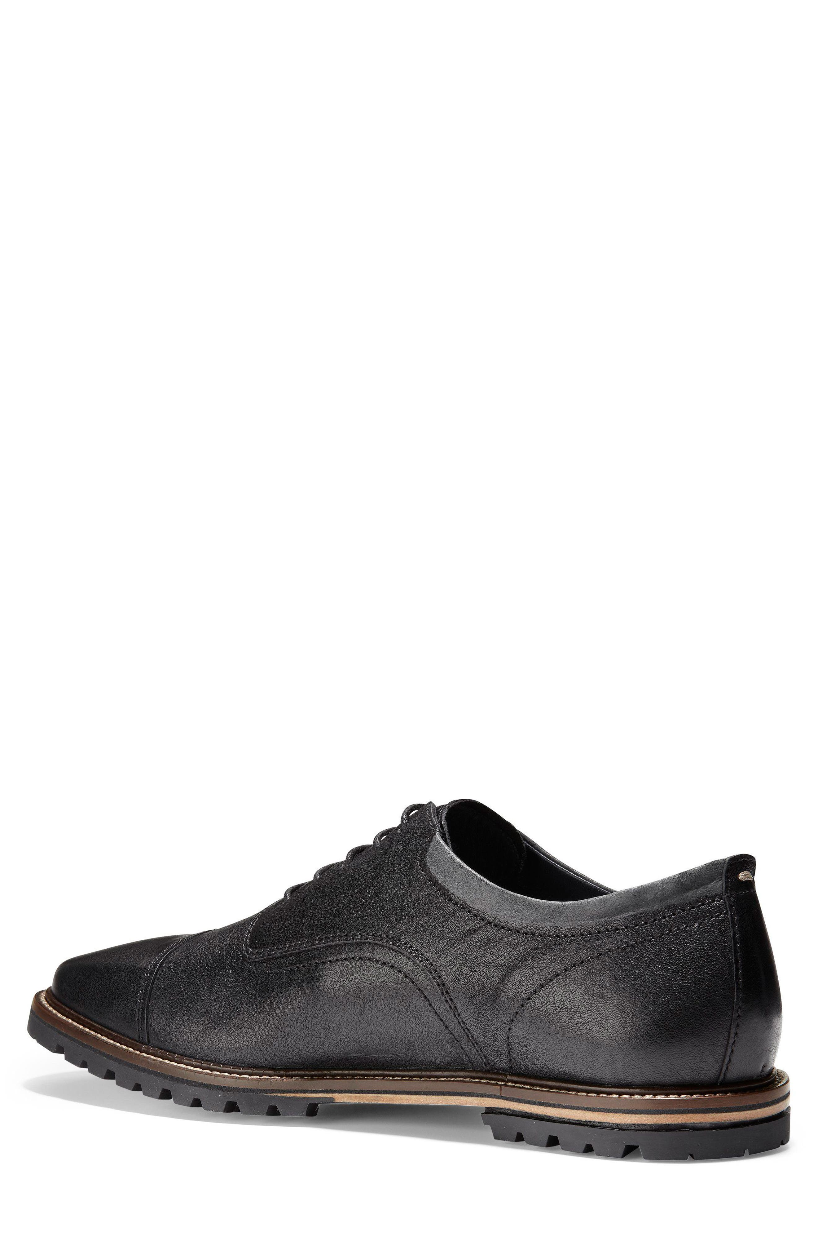 Richardson Cap Toe Derby,                             Alternate thumbnail 2, color,                             BLACK LEATHER