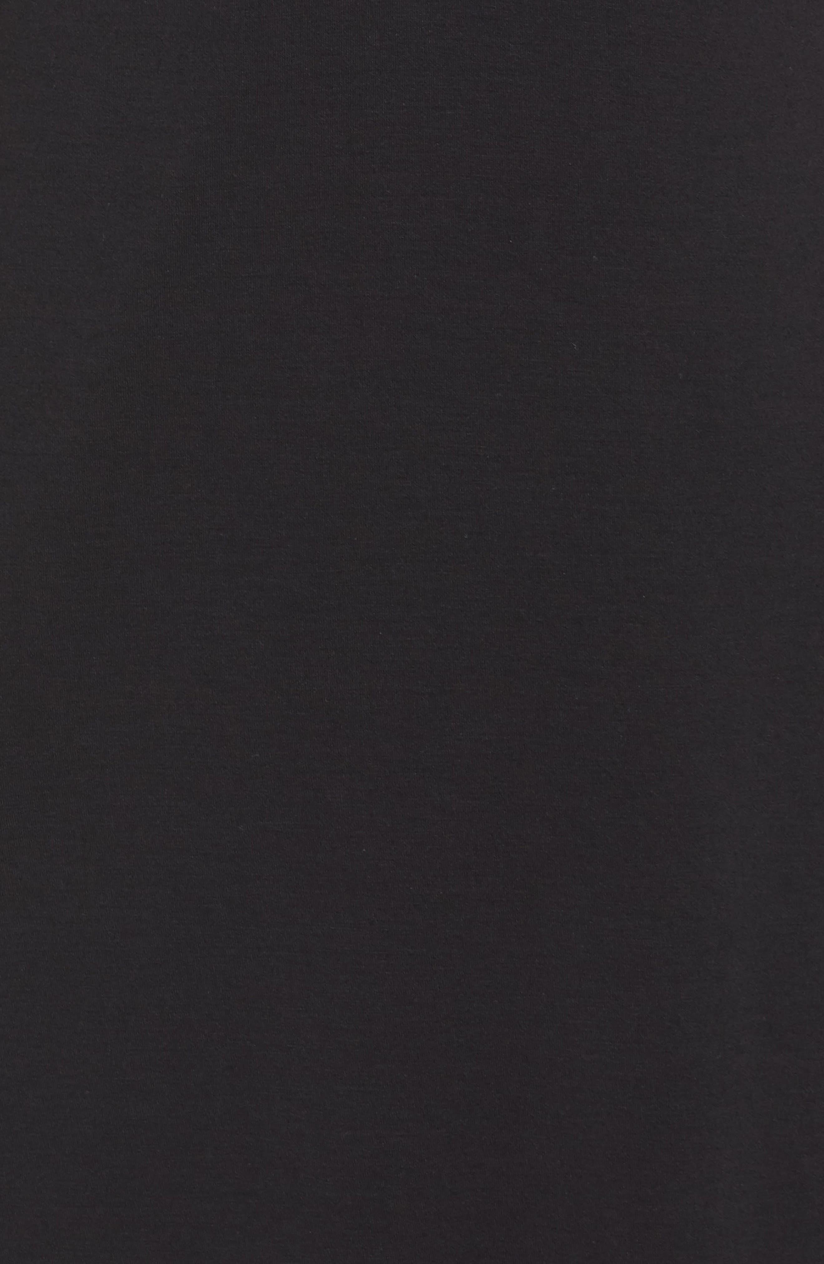 Knit Chemise,                             Alternate thumbnail 5, color,                             BLACK