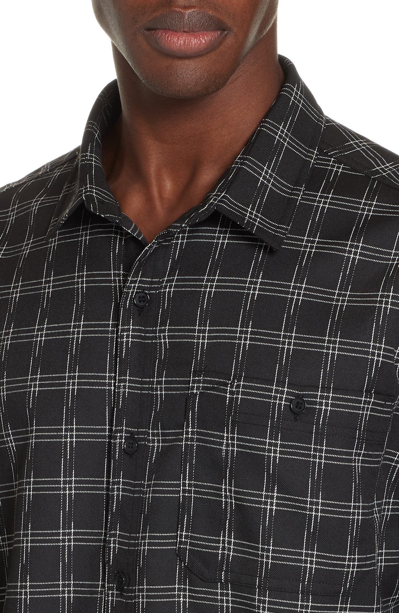 Core Flannel Shirt,                             Alternate thumbnail 2, color,                             BLACK