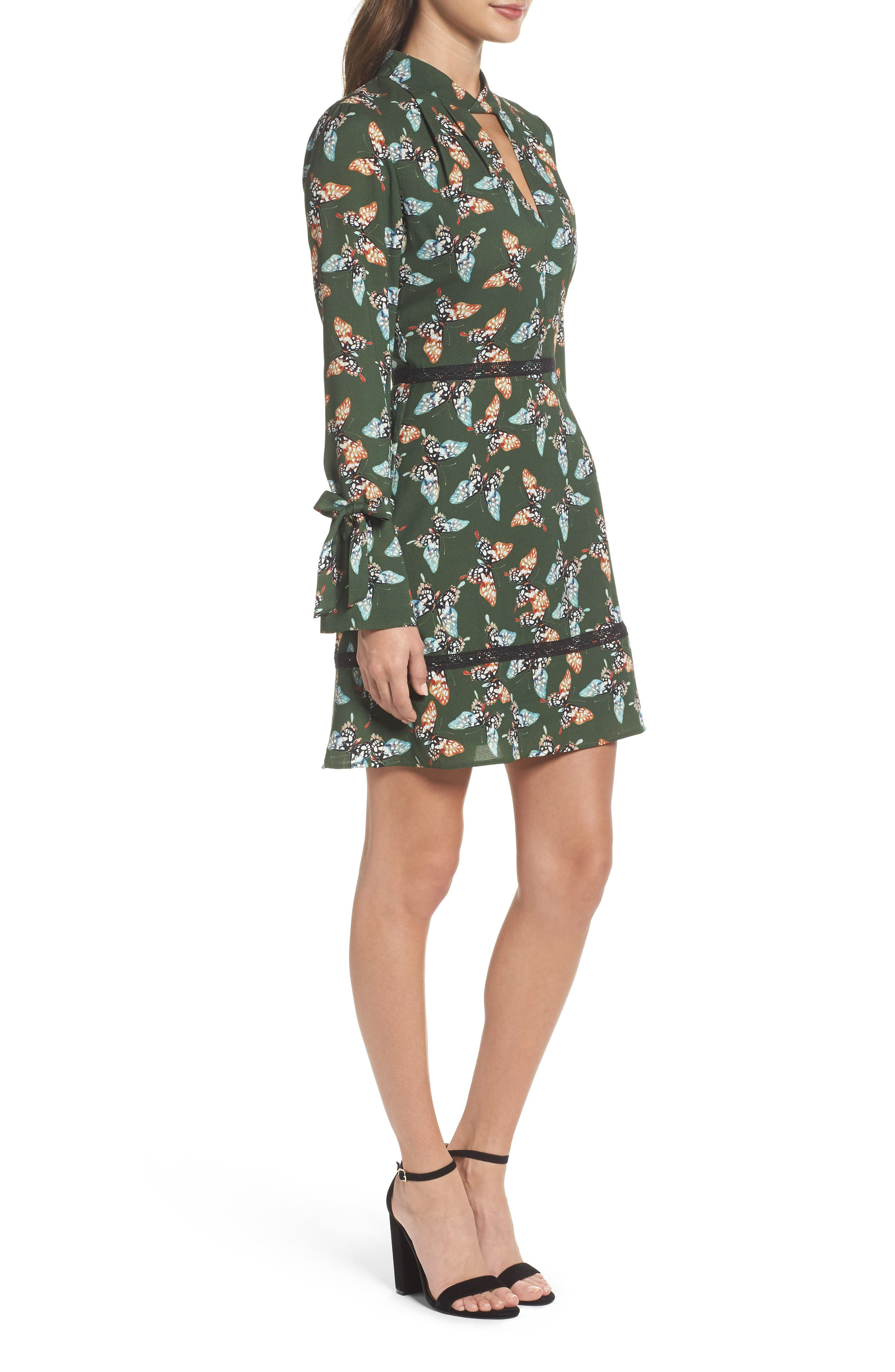 Odessa Fit & Flare Dress,                             Alternate thumbnail 3, color,                             310