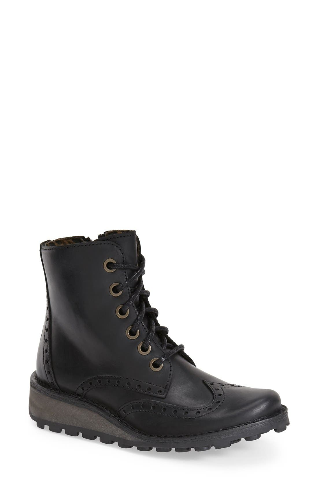 'Marl' Wedge Boot, Main, color, 001