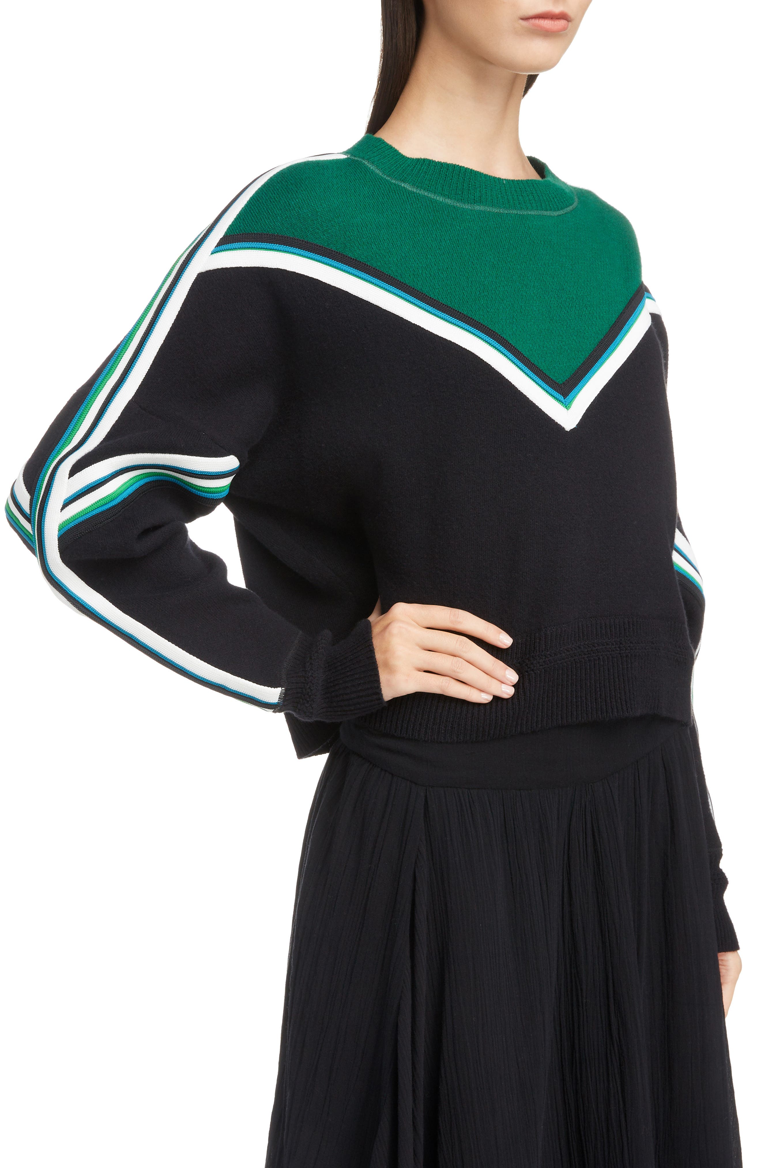Kimo Stripe Detail Sweater,                             Alternate thumbnail 4, color,                             005