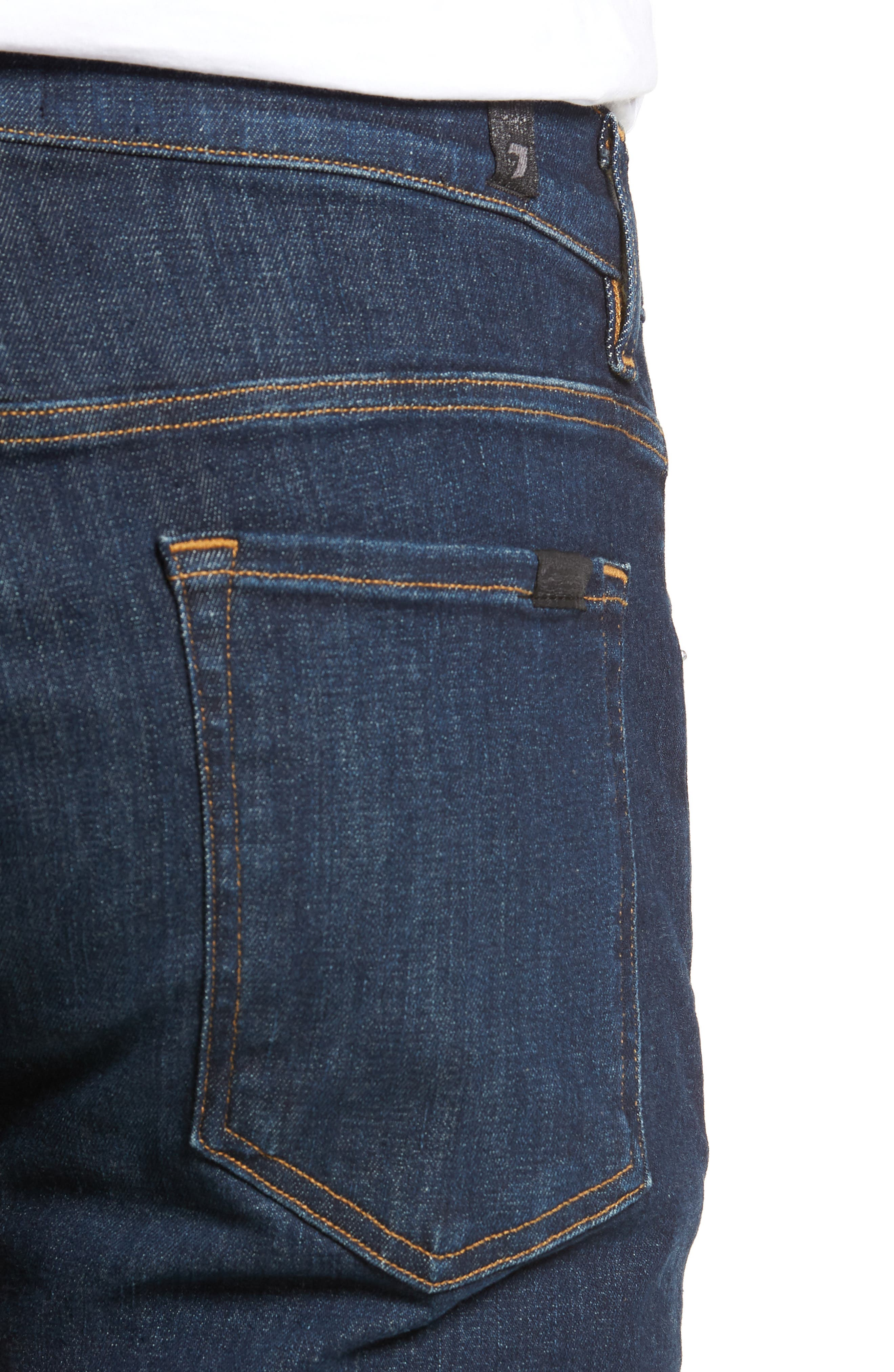 The Straight Luxe Sport Straight Leg Jeans,                             Alternate thumbnail 4, color,                             404