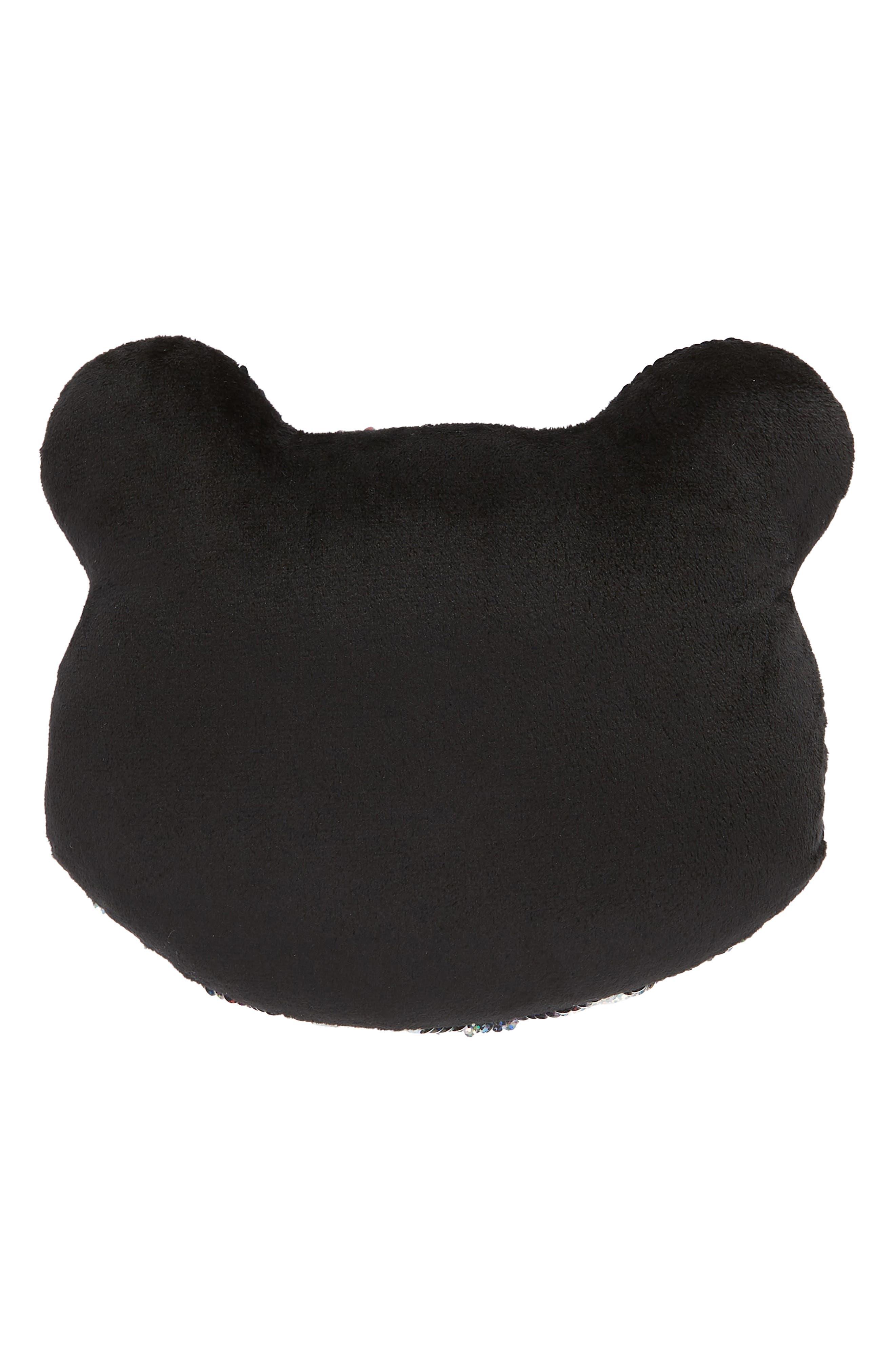 ISCREAM,                             Mini Panda Flip Sequin Accent Pillow,                             Alternate thumbnail 2, color,                             040