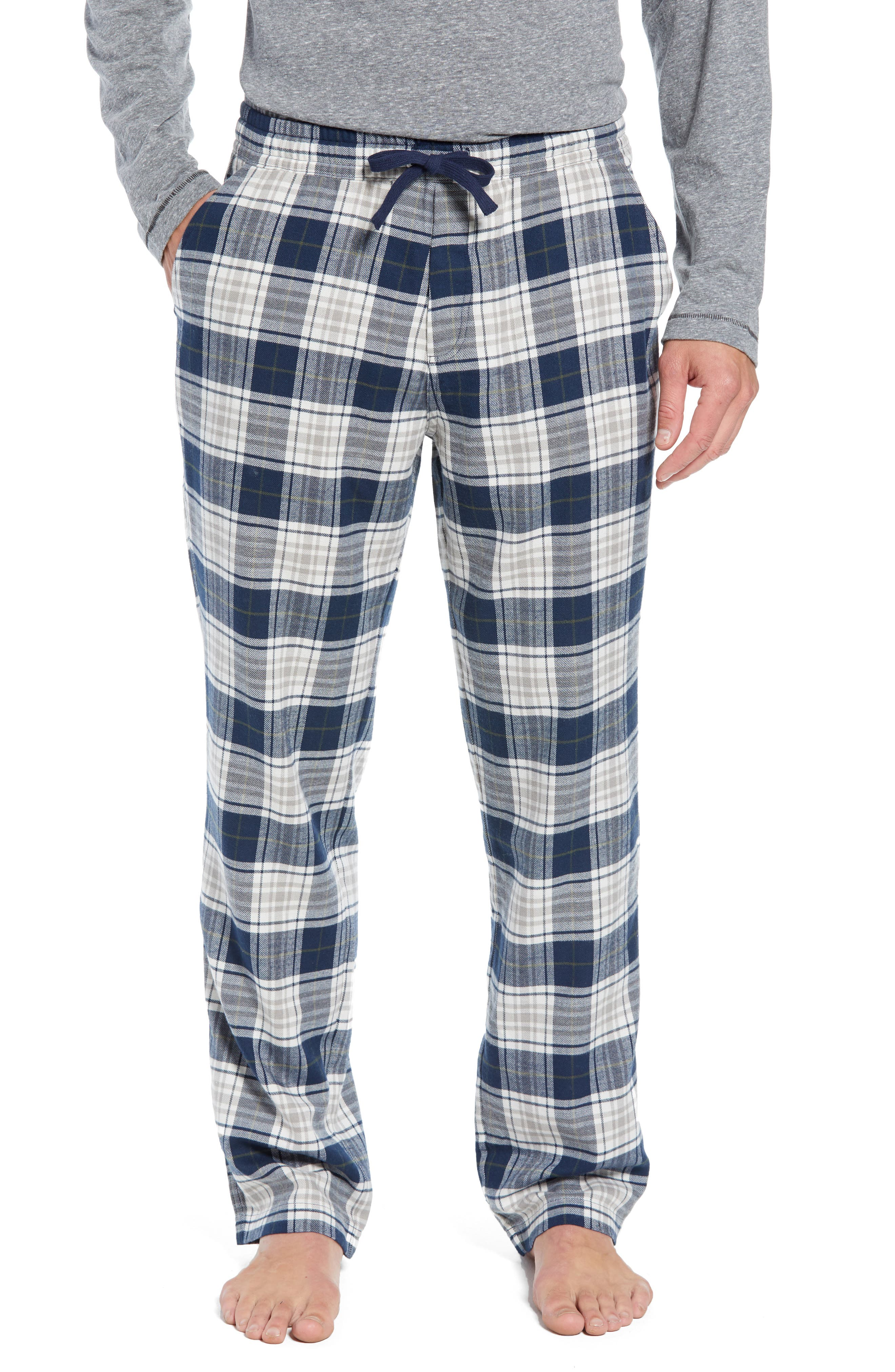 Steiner Pajama Set,                         Main,                         color, NAVY/ GREY HEATHER