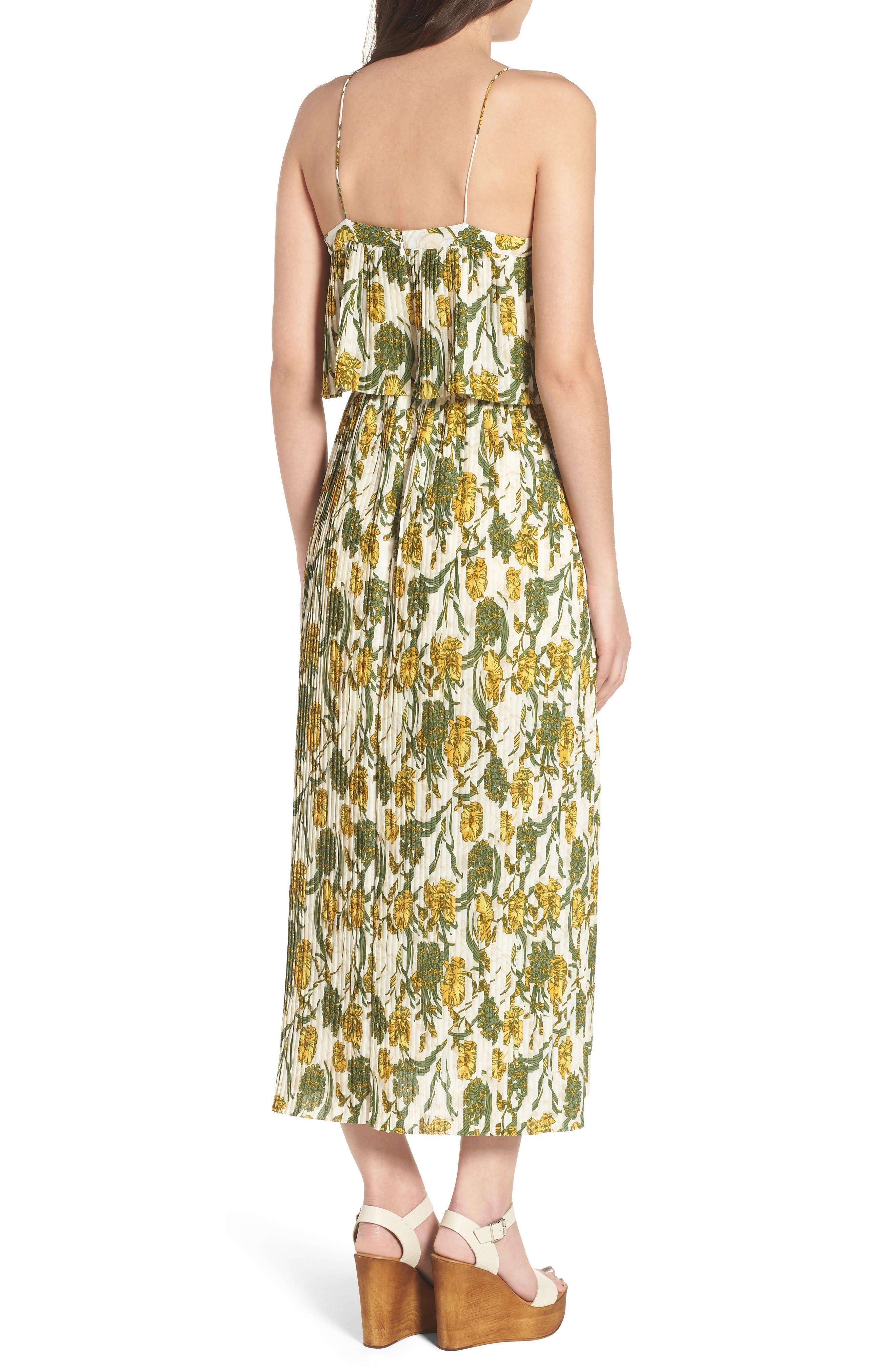 Pleated Midi Dress,                             Alternate thumbnail 2, color,                             900