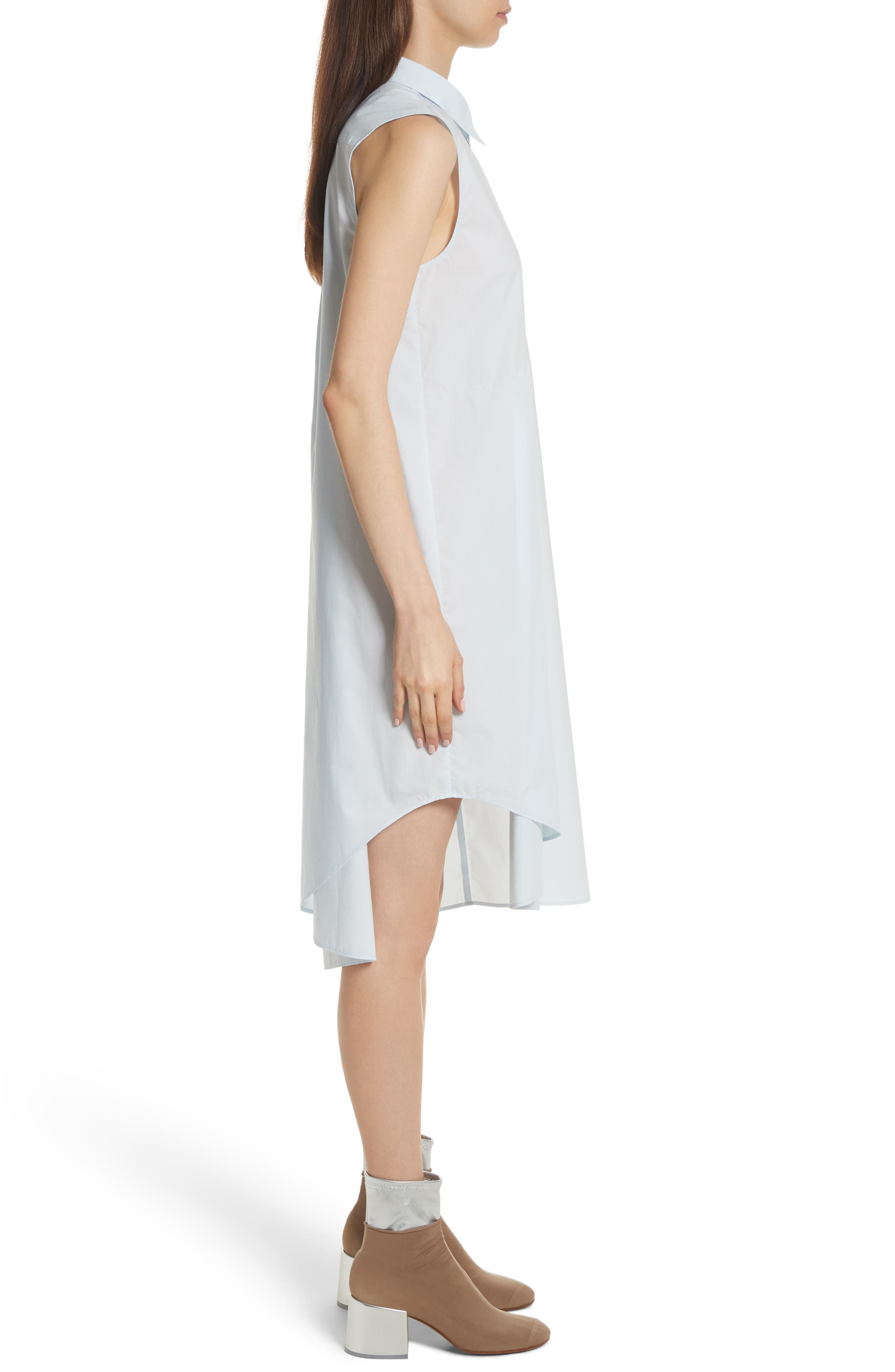 Sleeveless Shirtdress,                             Alternate thumbnail 3, color,                             422