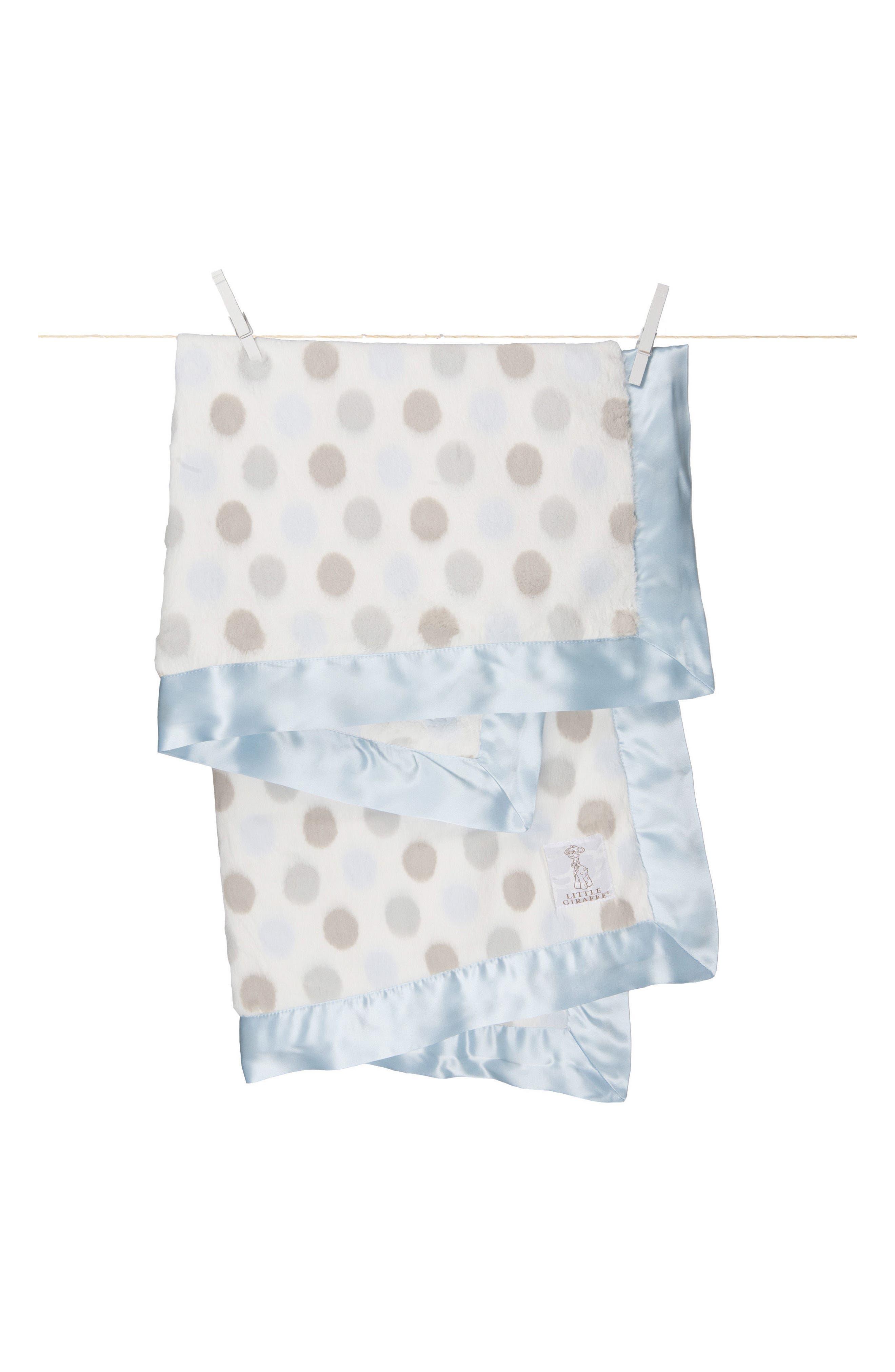 'Luxe Dot' Blanket,                             Alternate thumbnail 2, color,                             BLUE