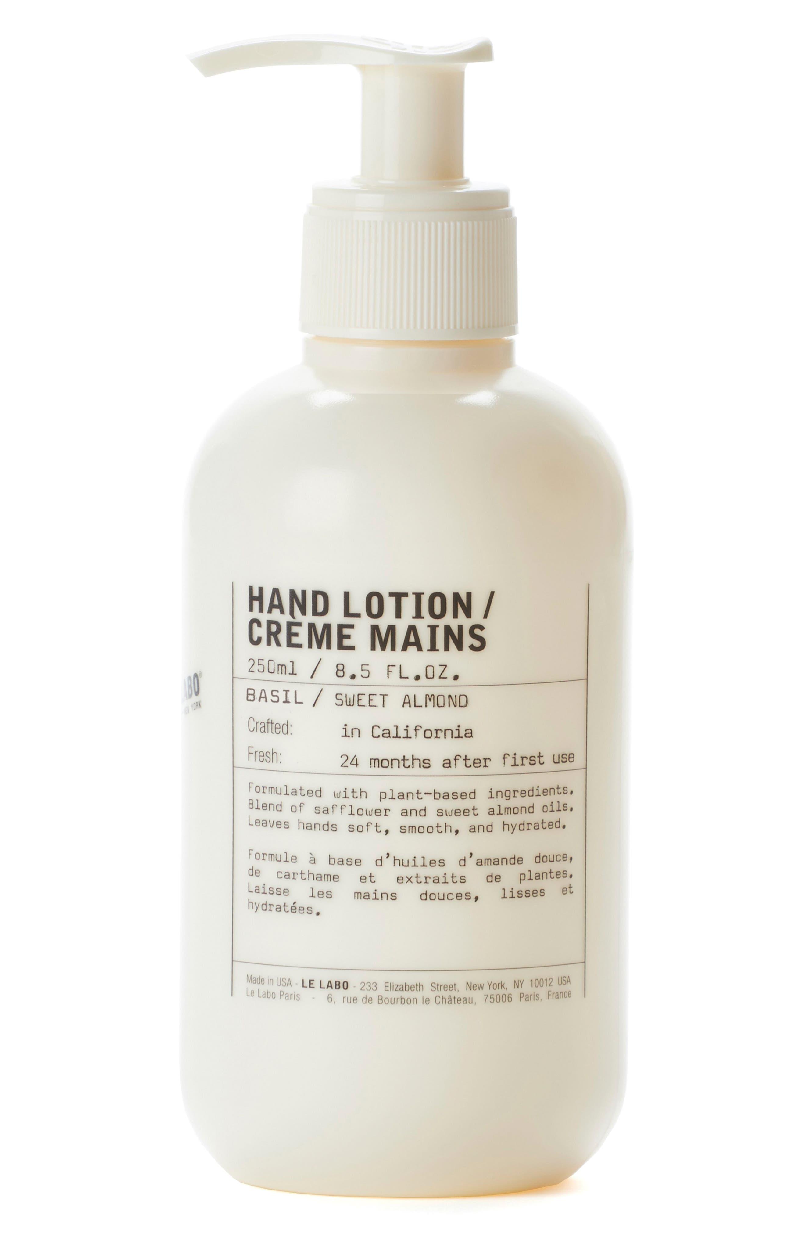 Basil Hand Lotion, Main, color, NO COLOR