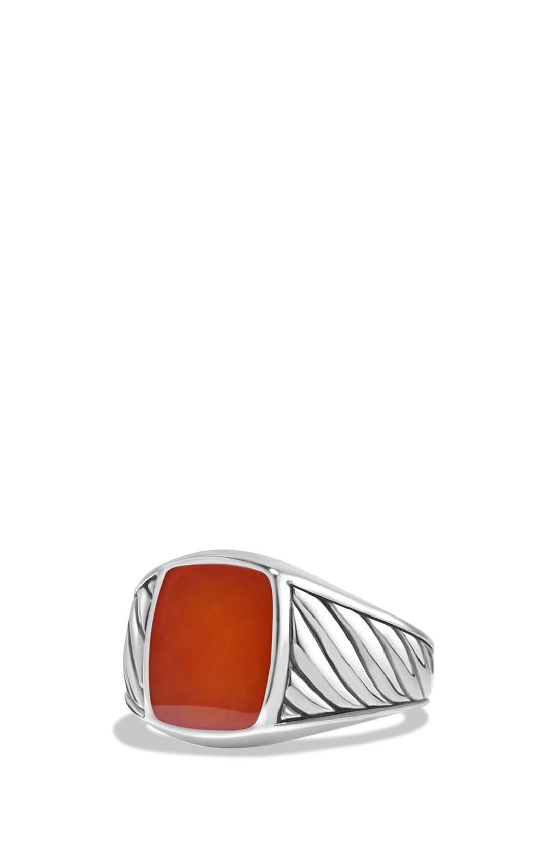 'Cable Classics' Signet Ring,                             Main thumbnail 1, color,                             600