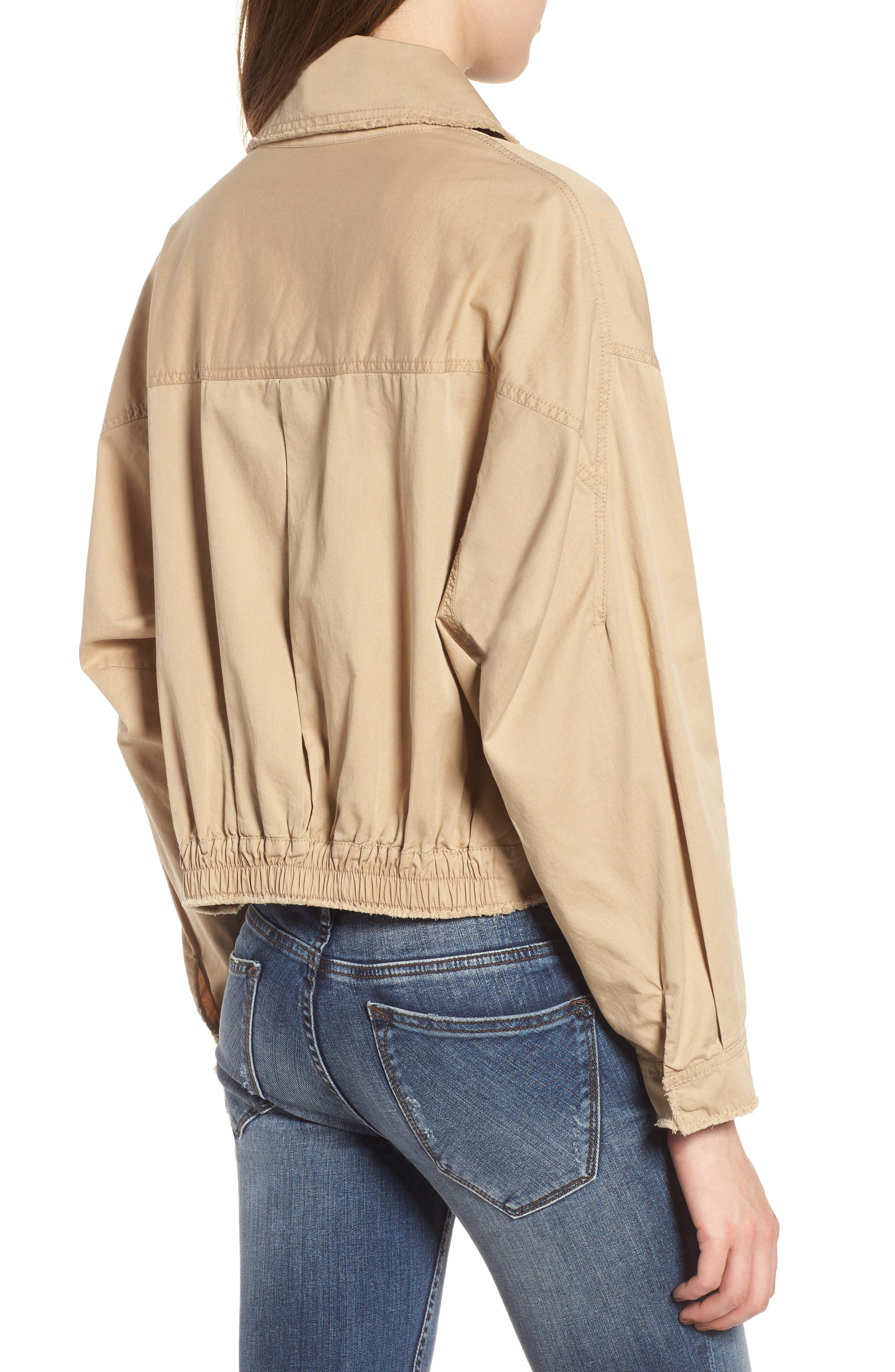 Crop Trench Coat,                             Alternate thumbnail 2, color,                             260
