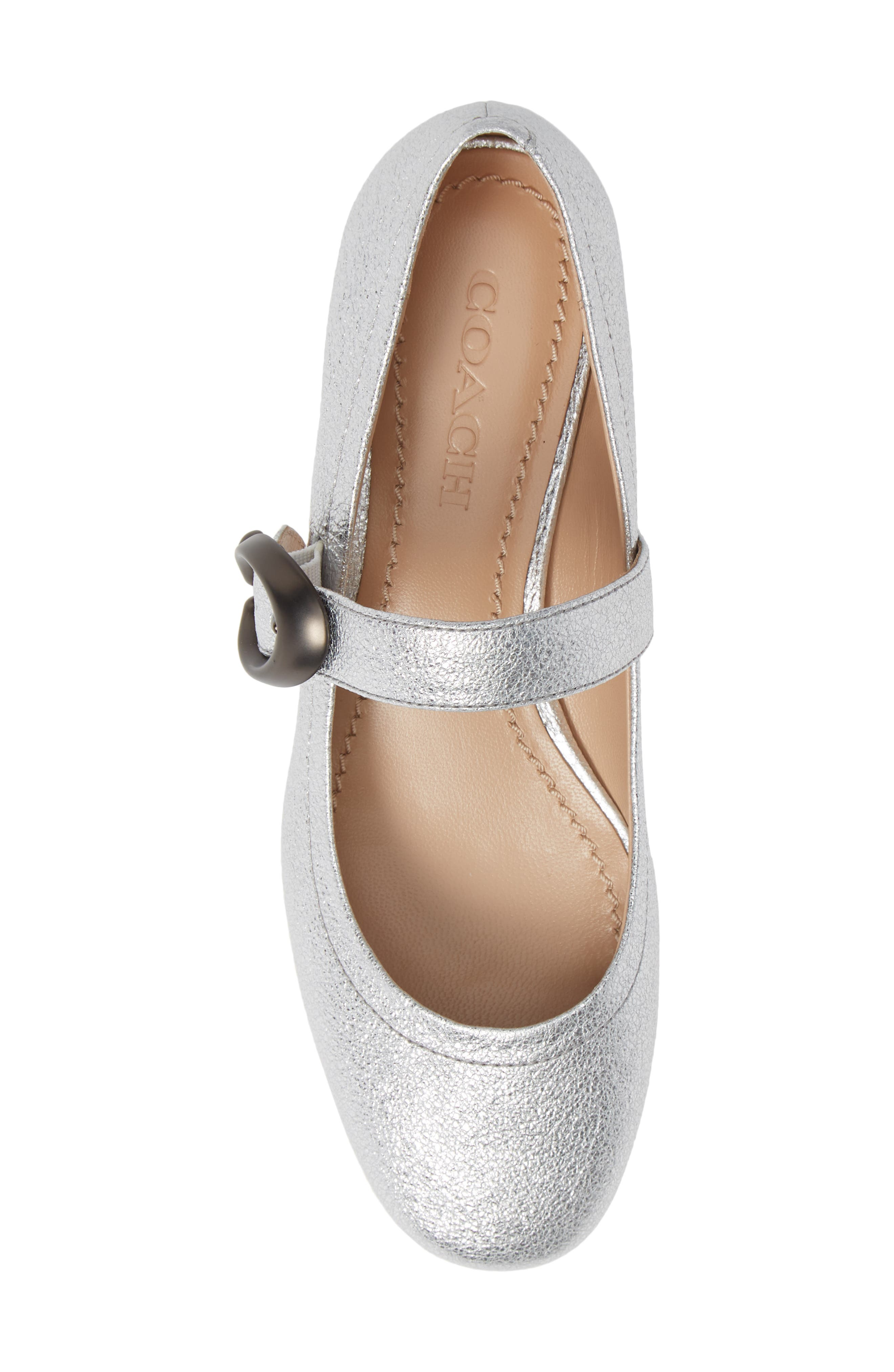 Lexi Mary Jane,                             Alternate thumbnail 5, color,                             SILVER LEATHER