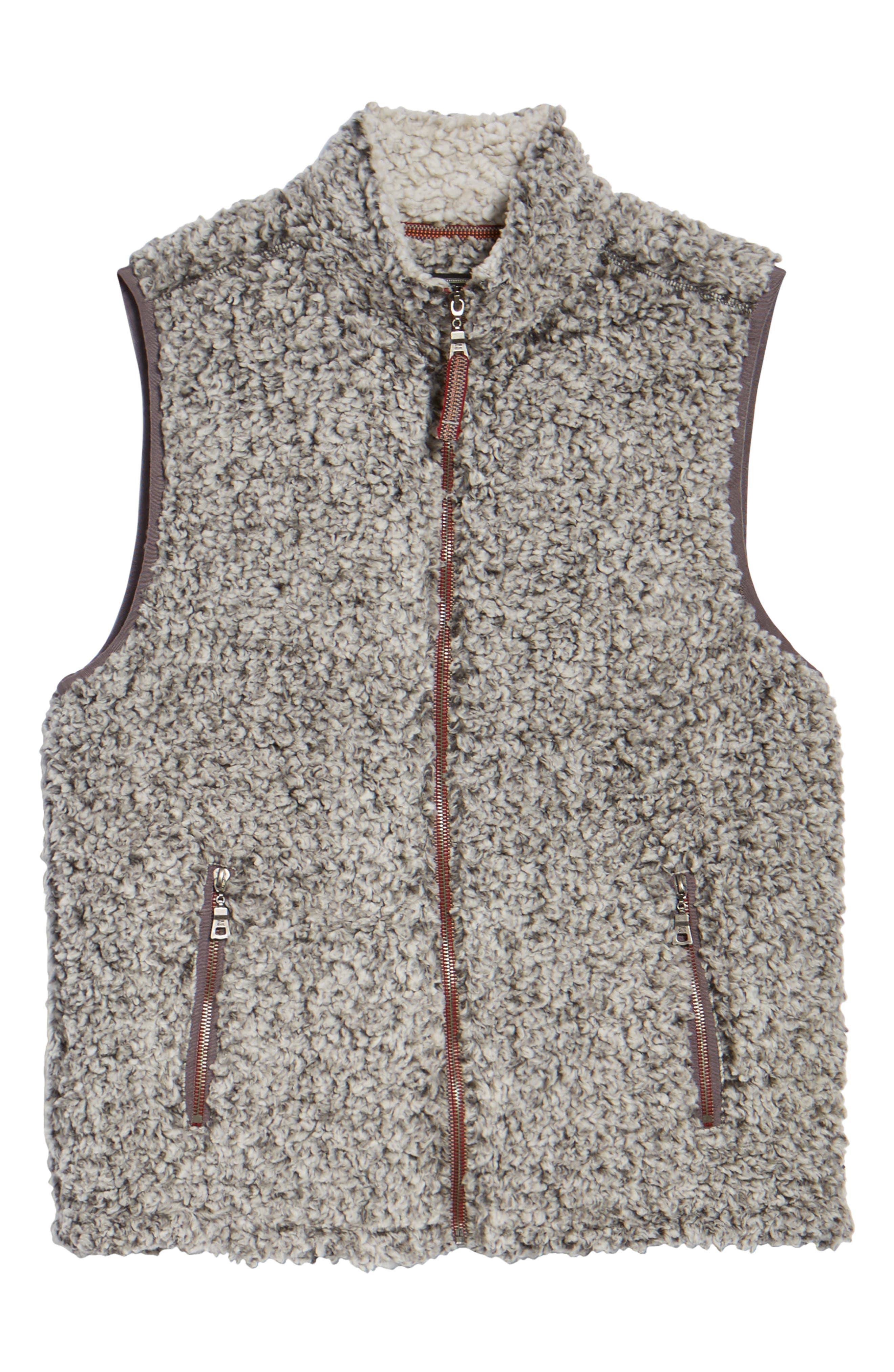 Double Up Frosty Tipped Faux Fur Vest,                             Alternate thumbnail 5, color,                             020