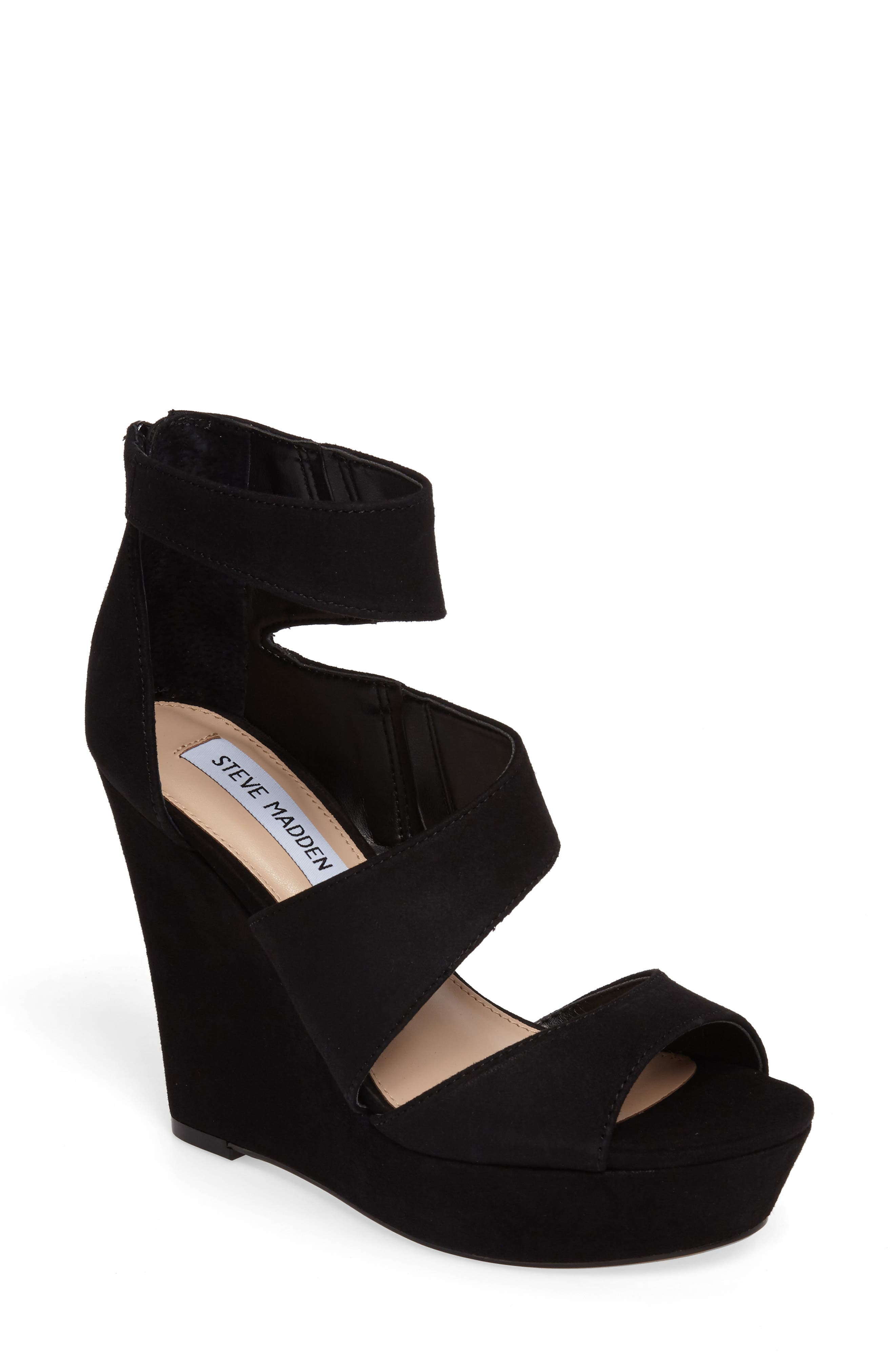 Essey Asymmetrical Platform Wedge Sandal,                             Main thumbnail 1, color,                             006