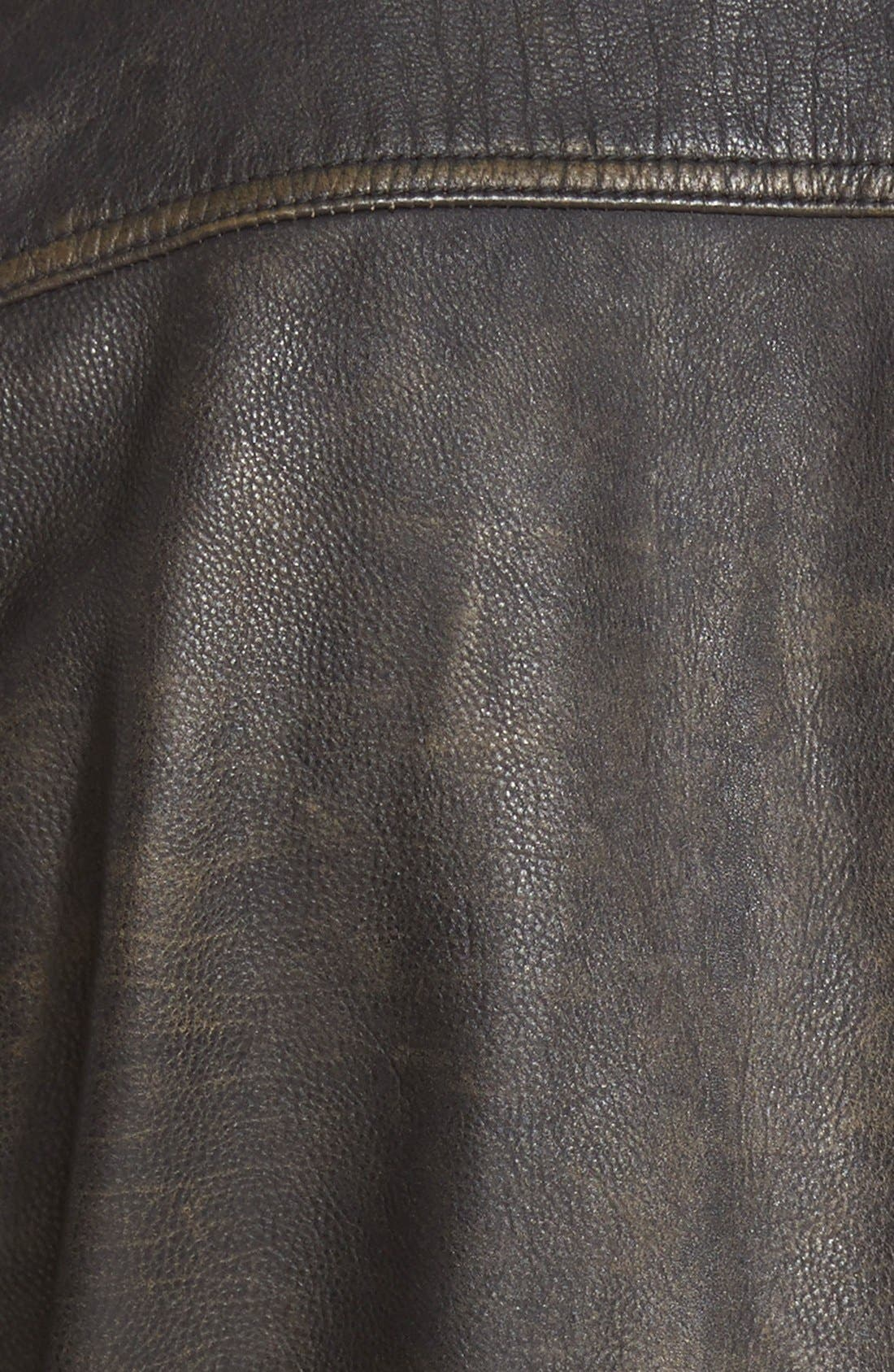 'Ace' Leather Jacket,                             Alternate thumbnail 3, color,                             001