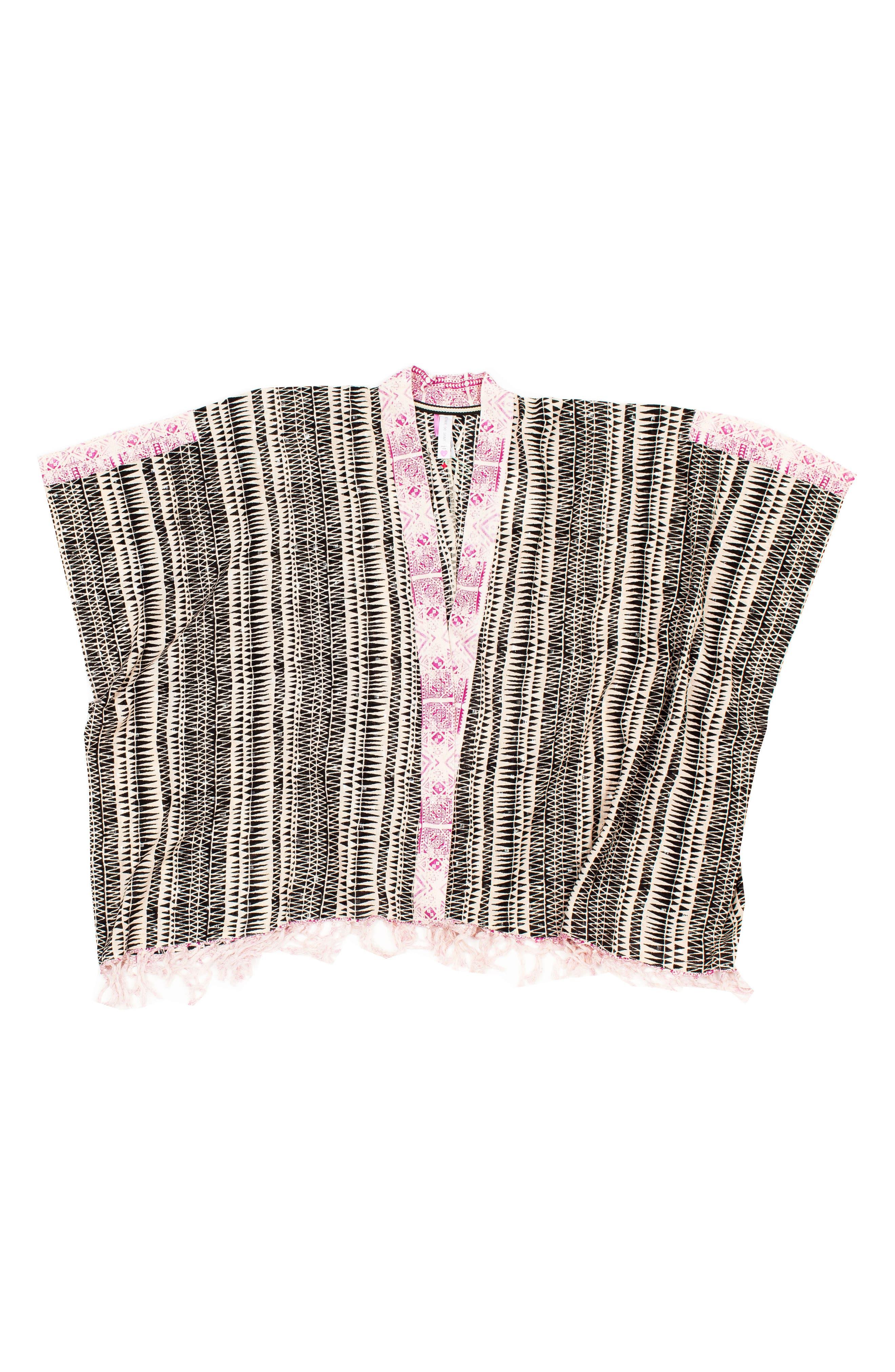 Stardust Kimono Cover-Up,                         Main,                         color, BLACK