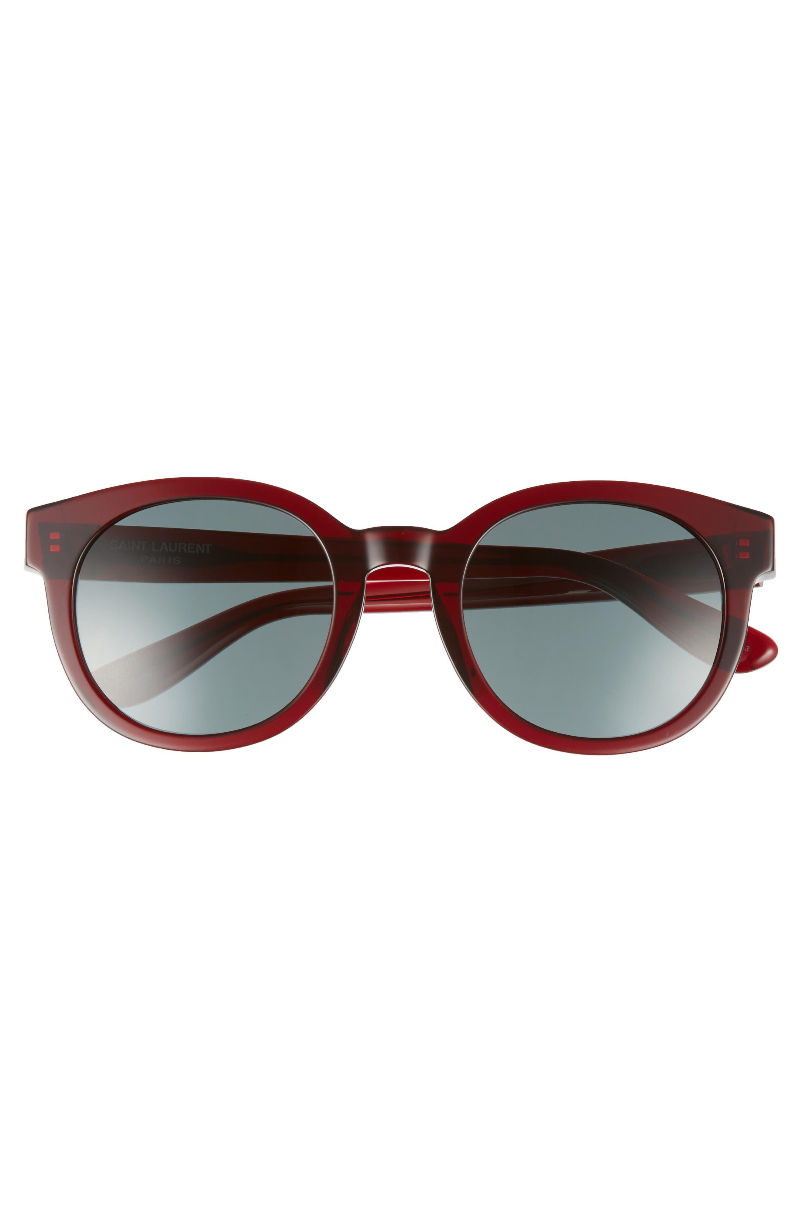 51mm Round Sunglasses,                             Alternate thumbnail 3, color,                             600