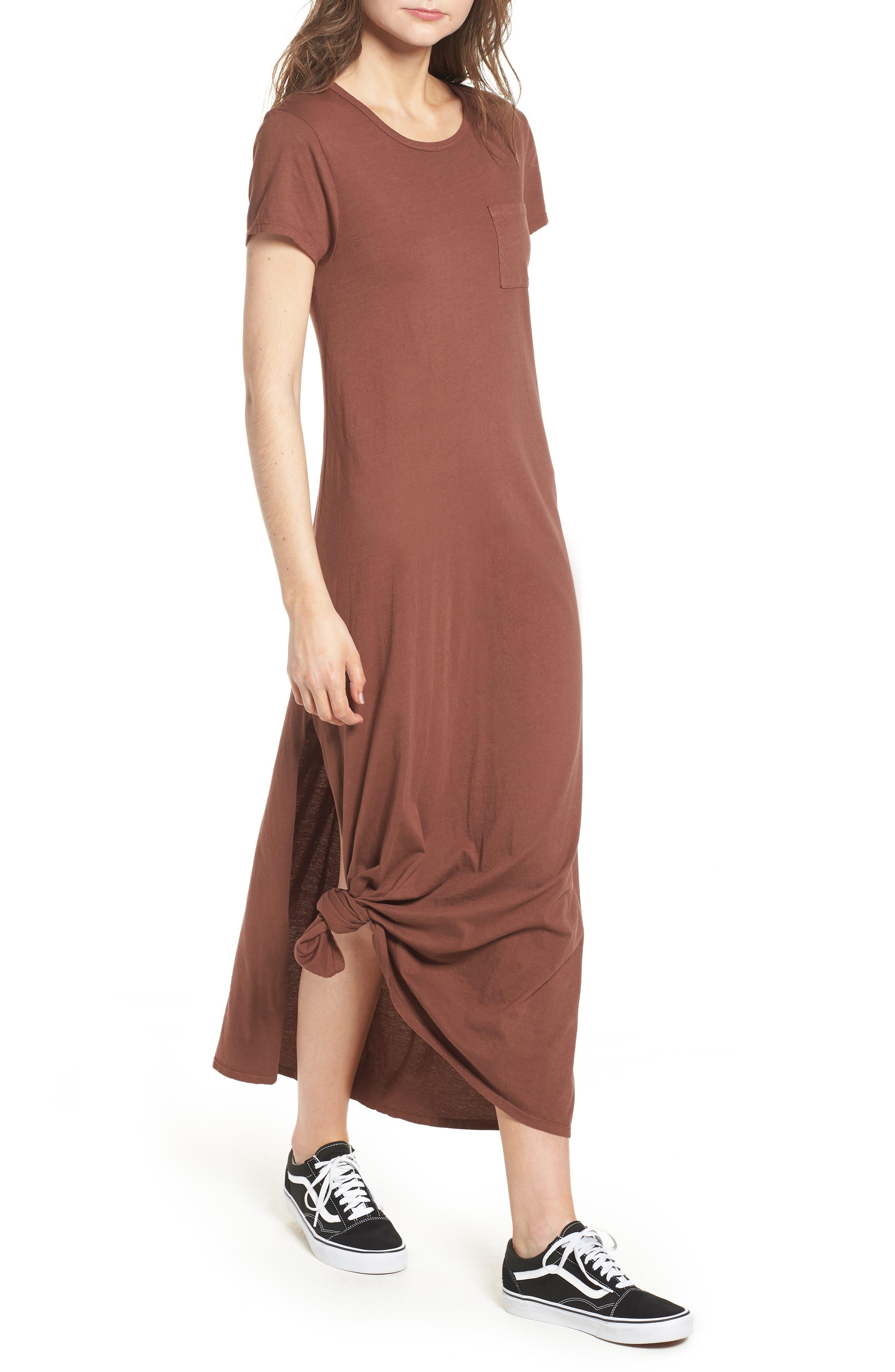 Alana Side Slit T-Shirt Dress,                             Main thumbnail 2, color,
