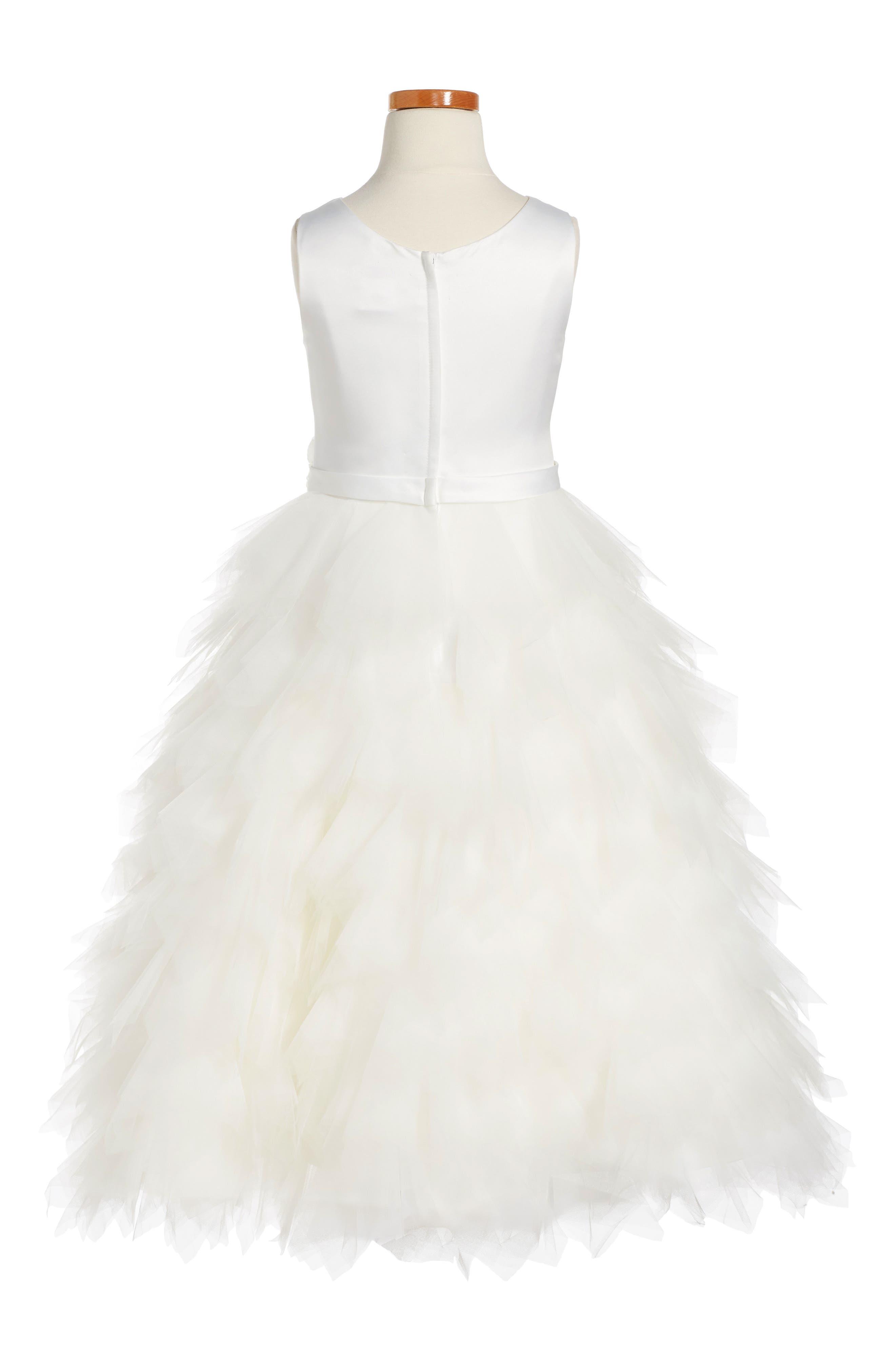Satin & Tulle Dress,                             Alternate thumbnail 2, color,                             102