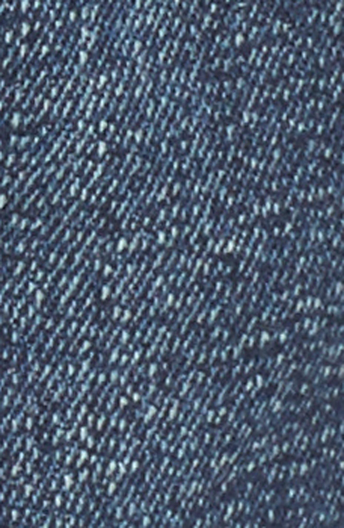 Extreme Fray Hem Jean Shorts,                             Alternate thumbnail 5, color,