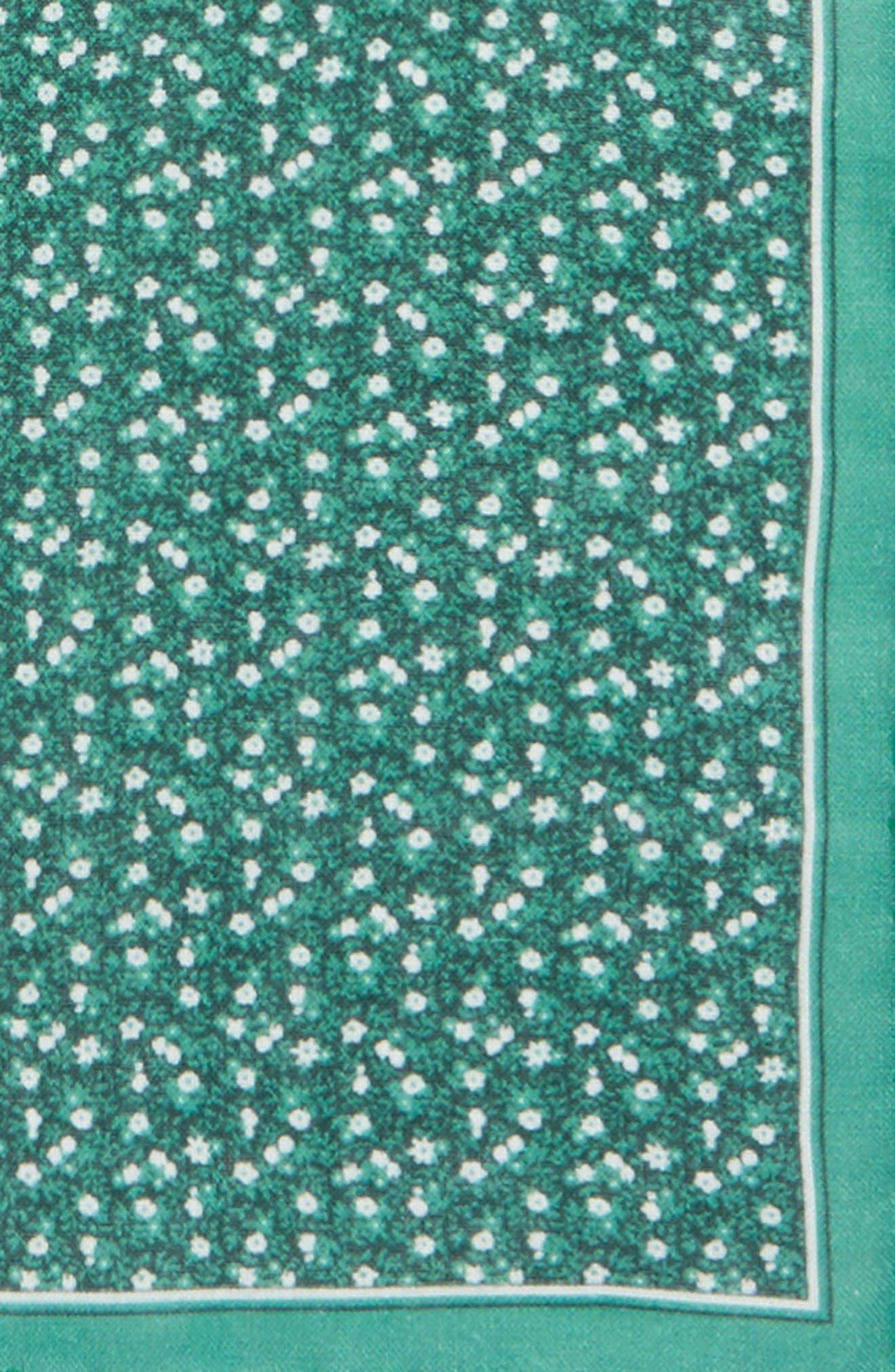 Floral Mark Linen Pocket Square,                             Alternate thumbnail 3, color,                             300