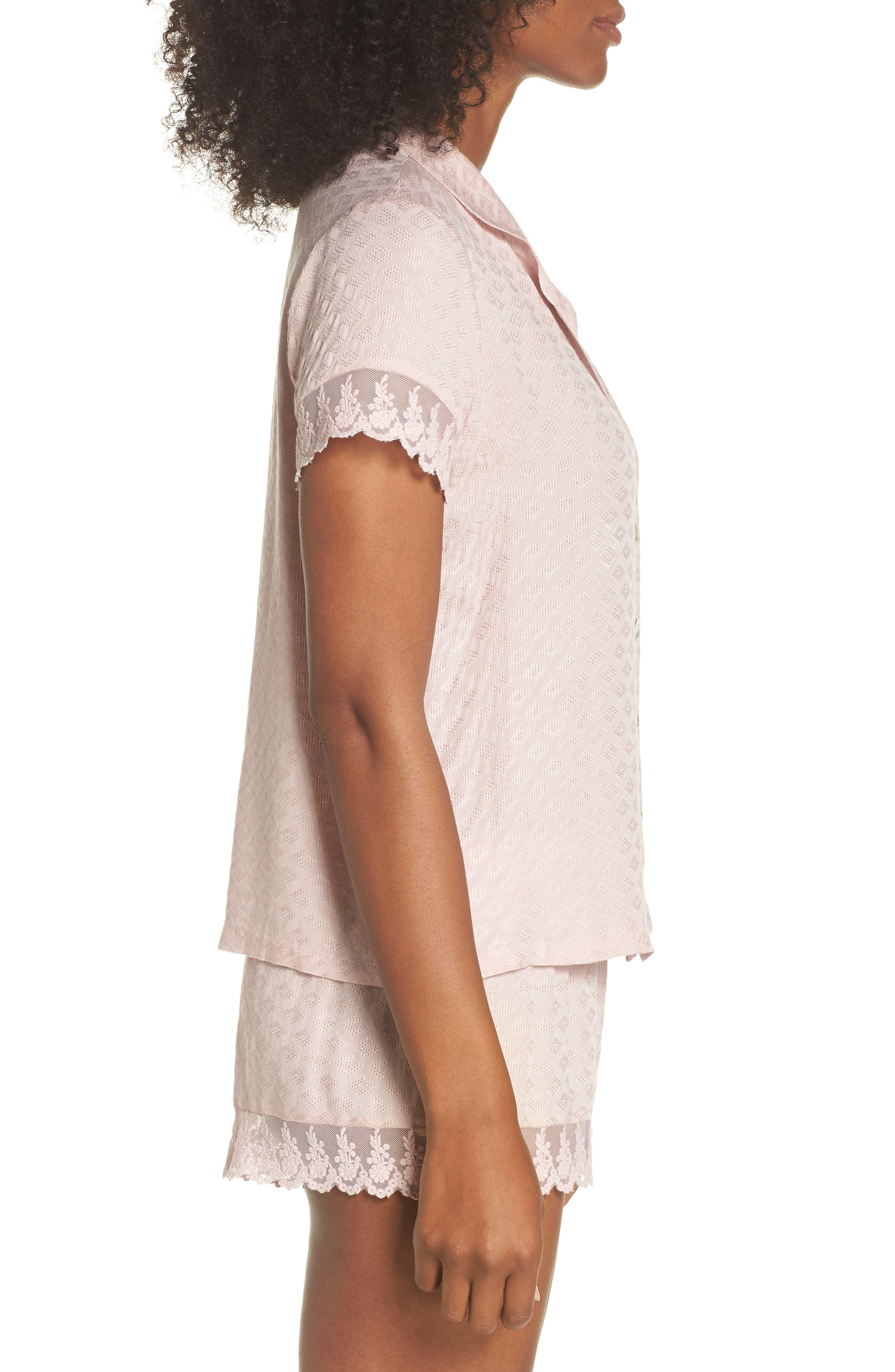 Laurel Short Pajamas,                             Alternate thumbnail 3, color,                             SEPIA ROSE