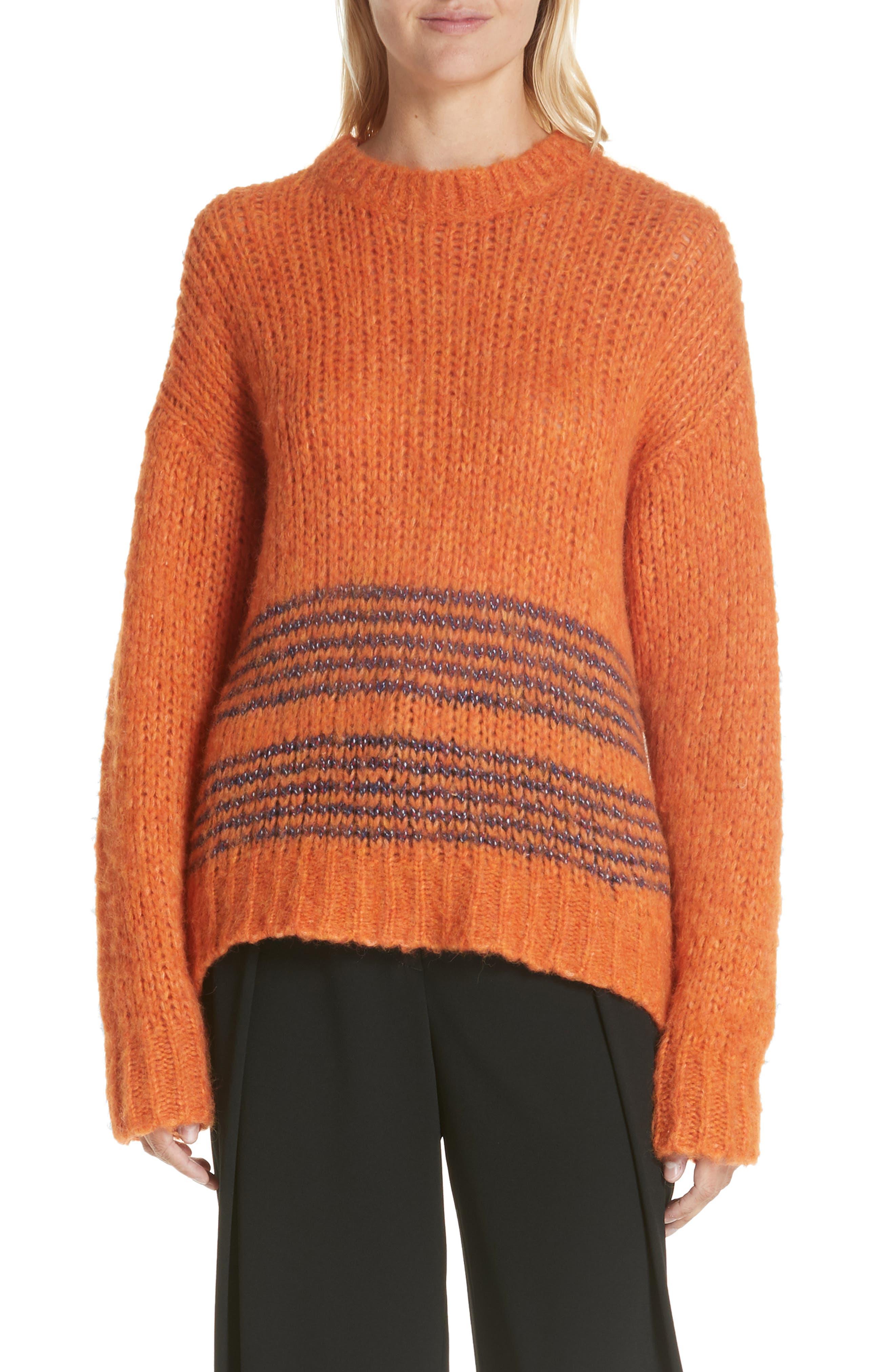Rag & Bone Iceland Wool Blend Sweater, Orange