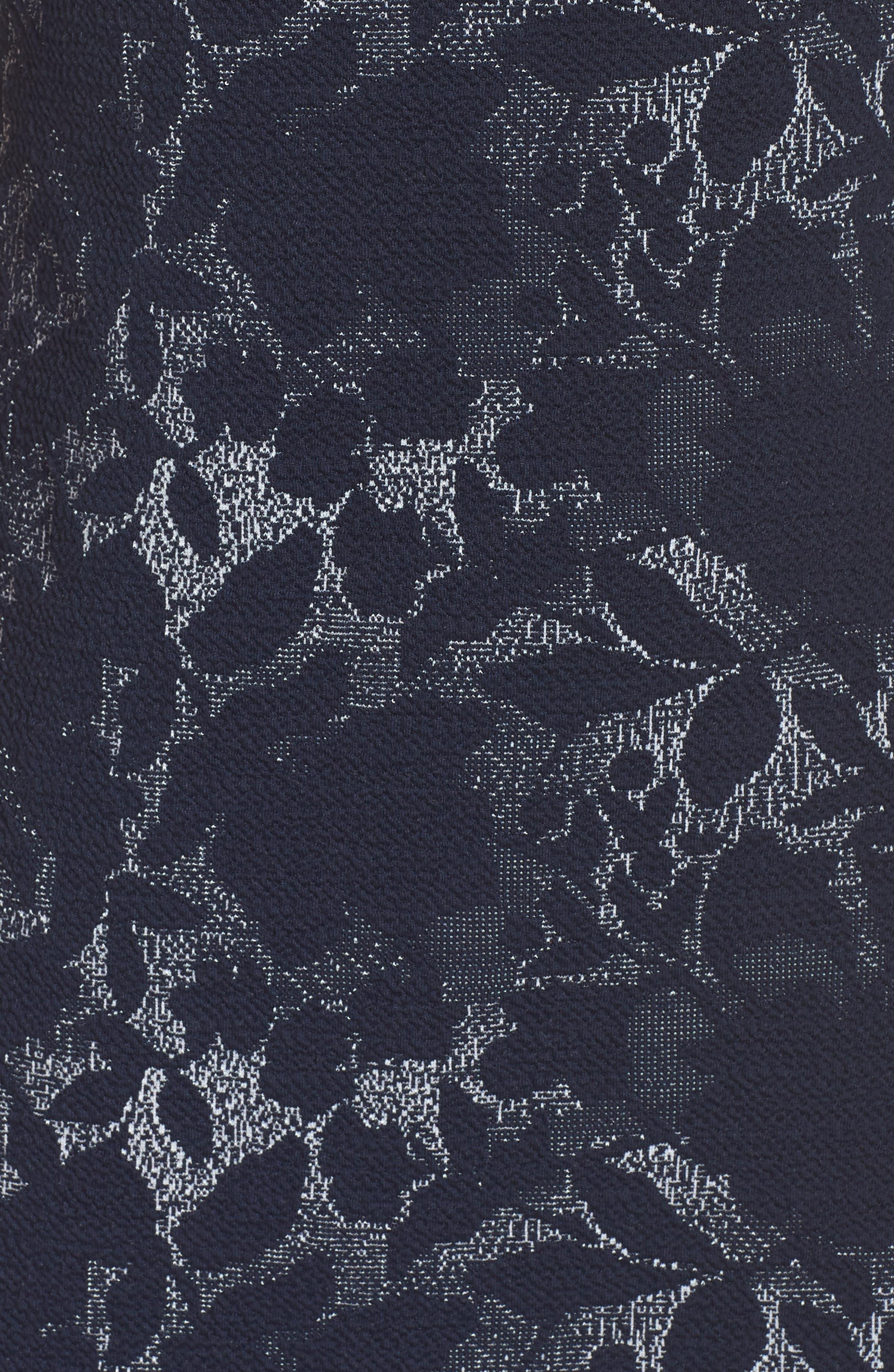 MAGGY LONDON,                             Jacquard Pencil Dress,                             Alternate thumbnail 5, color,                             462