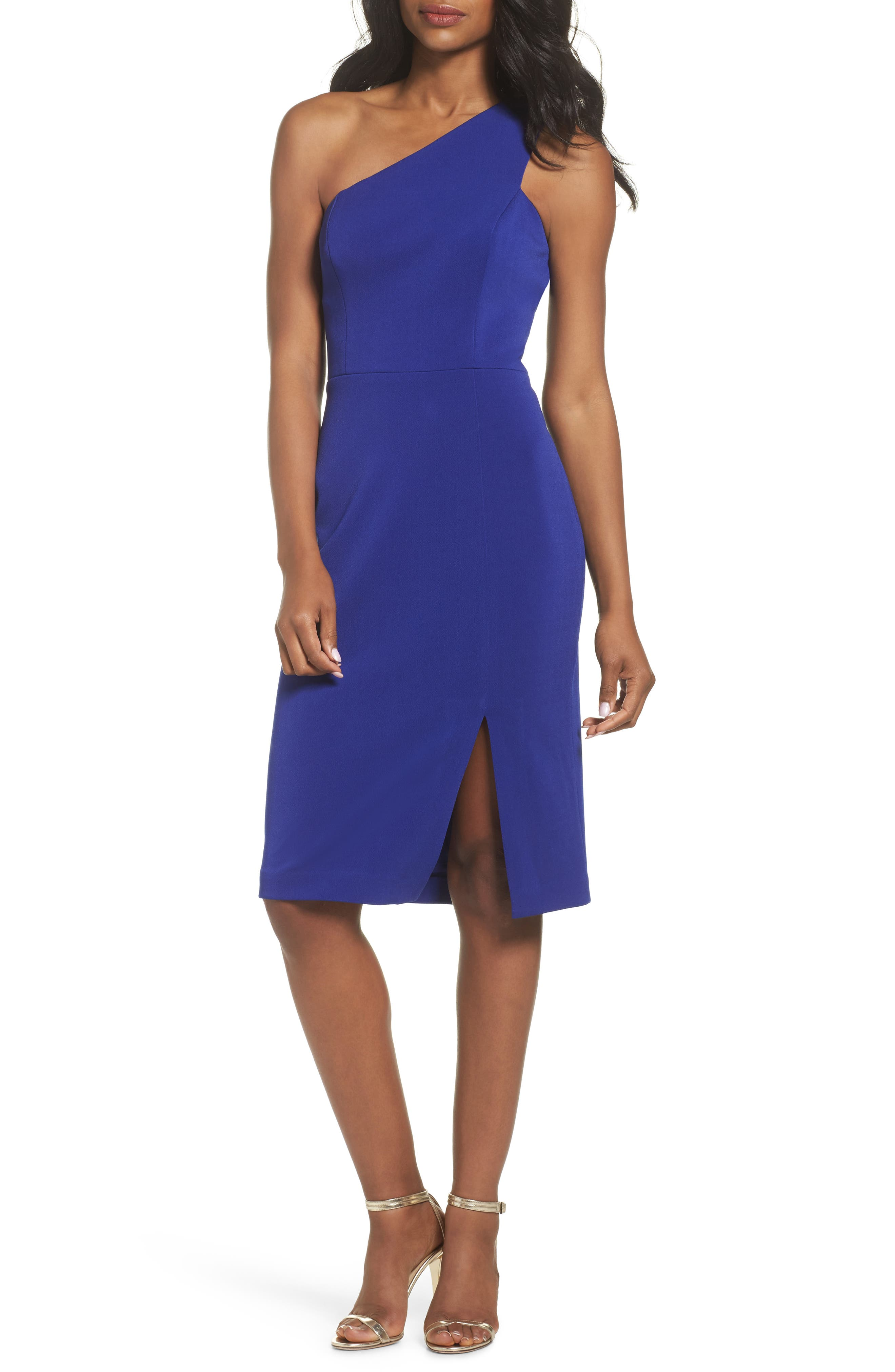 One-Shoulder Sheath Dress,                             Main thumbnail 1, color,                             430