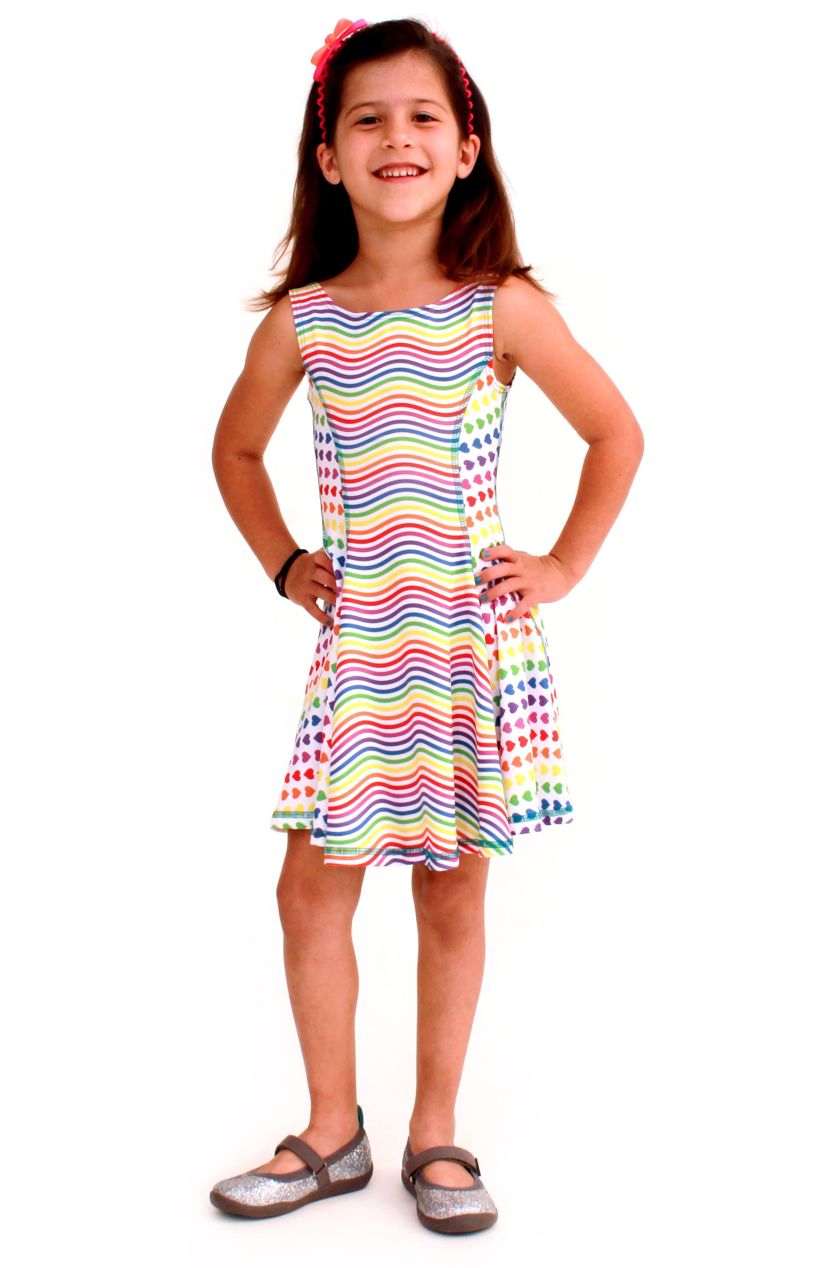 Flow Mixed Print Dress,                             Alternate thumbnail 19, color,