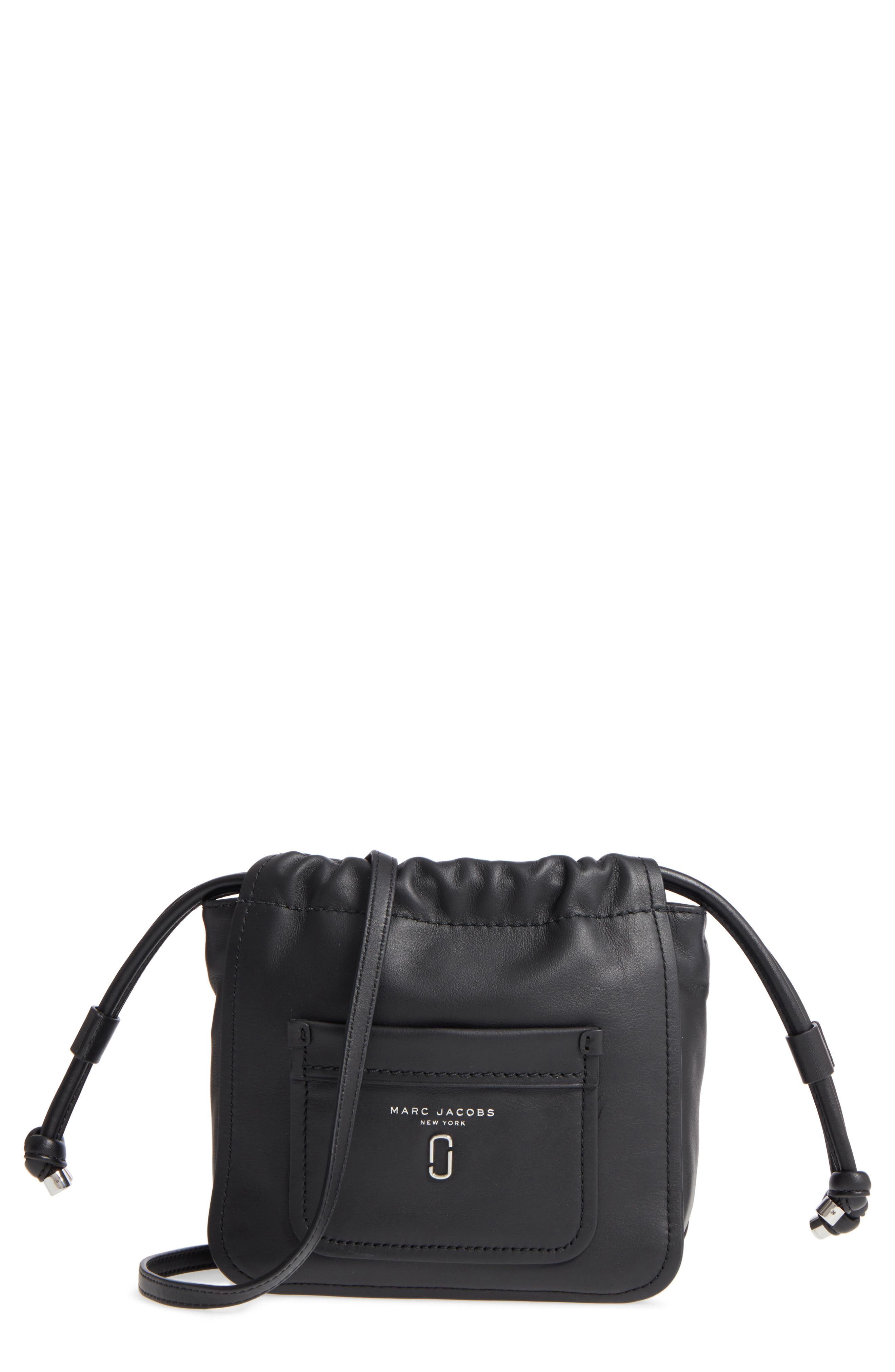 Tied Up Leather Crossbody Bag,                         Main,                         color, 001