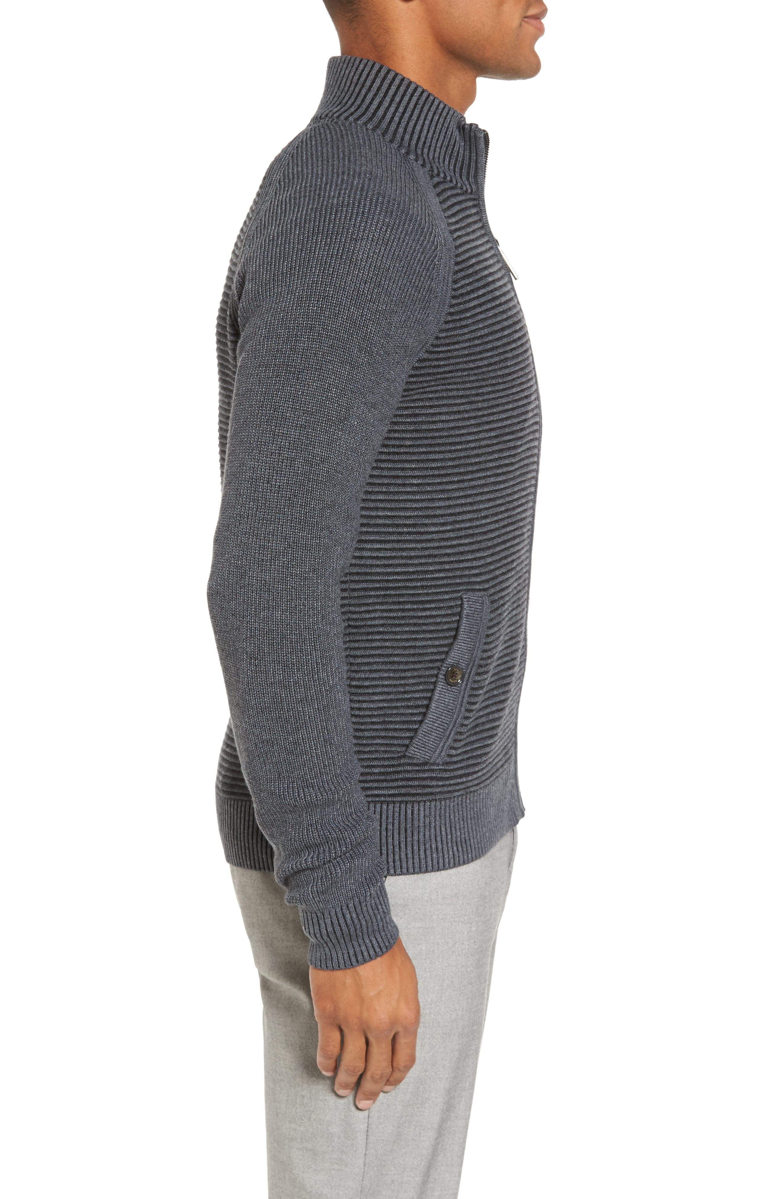 Modern Slim Fit Raglan Sweater,                             Alternate thumbnail 3, color,                             030