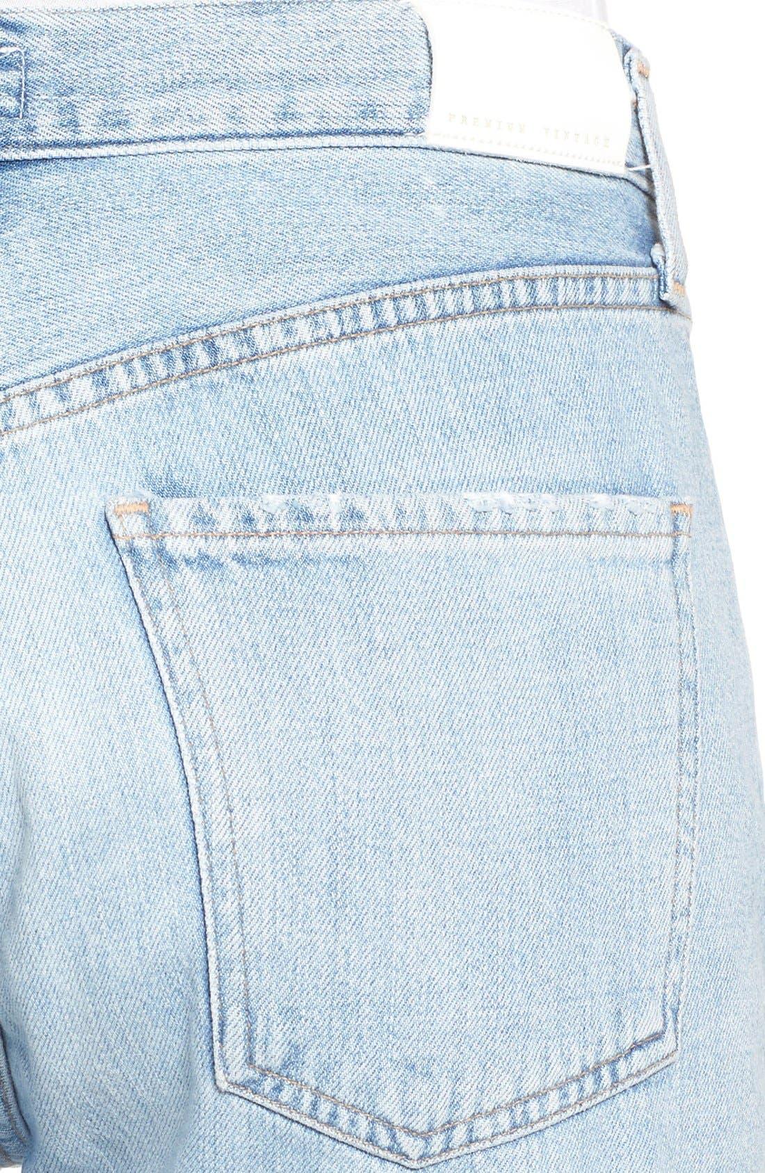 Cora High Waist Released Hem Boyfriend Jeans,                             Alternate thumbnail 5, color,                             454