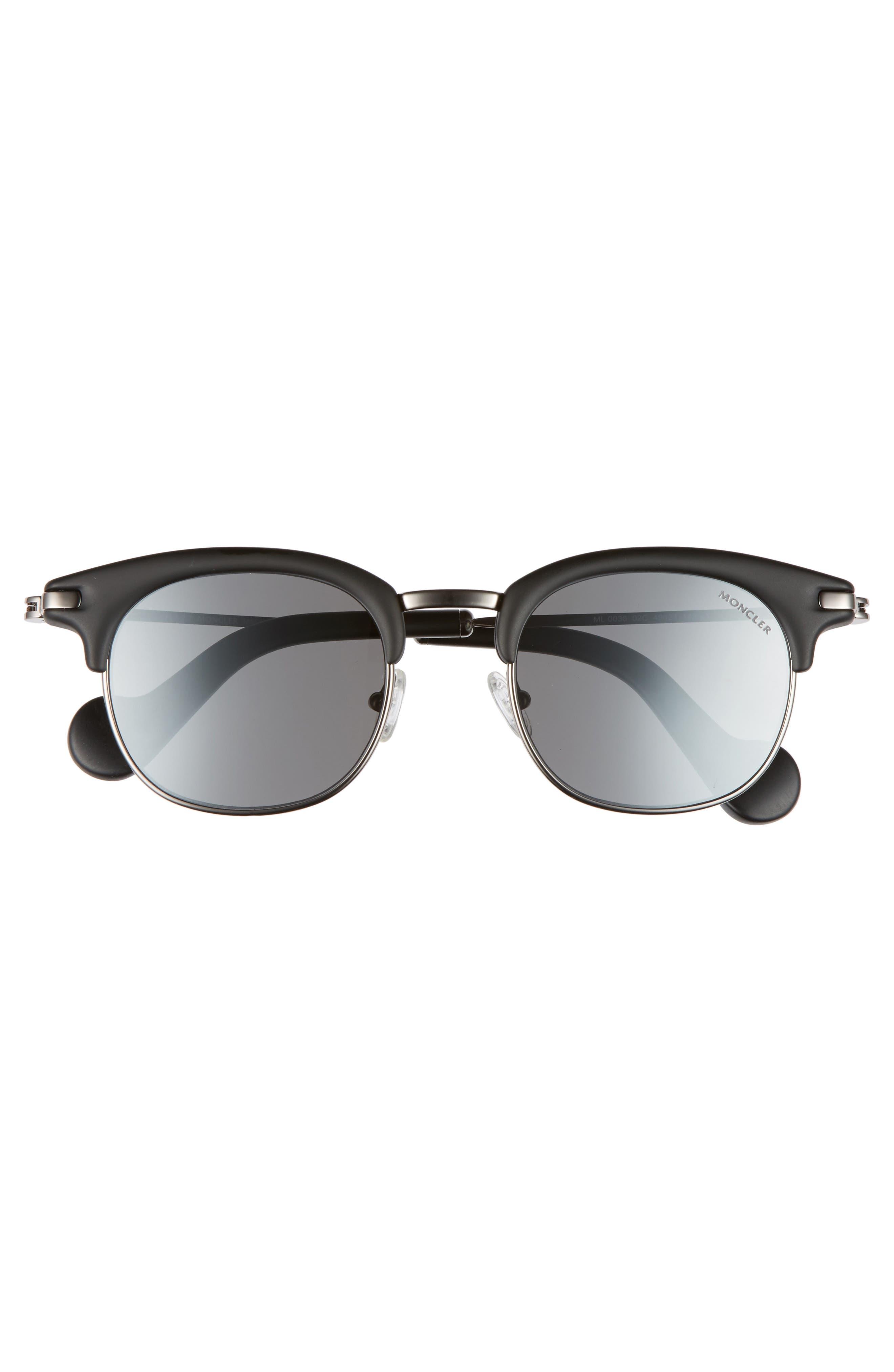 49mm Sunglasses,                             Alternate thumbnail 2, color,                             MATTE BLACK/ RUTHENIUM