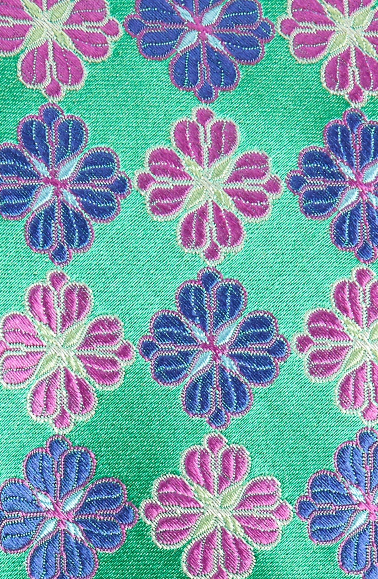 Cole Floral Silk X-Long Tie,                             Alternate thumbnail 2, color,                             OLIVE