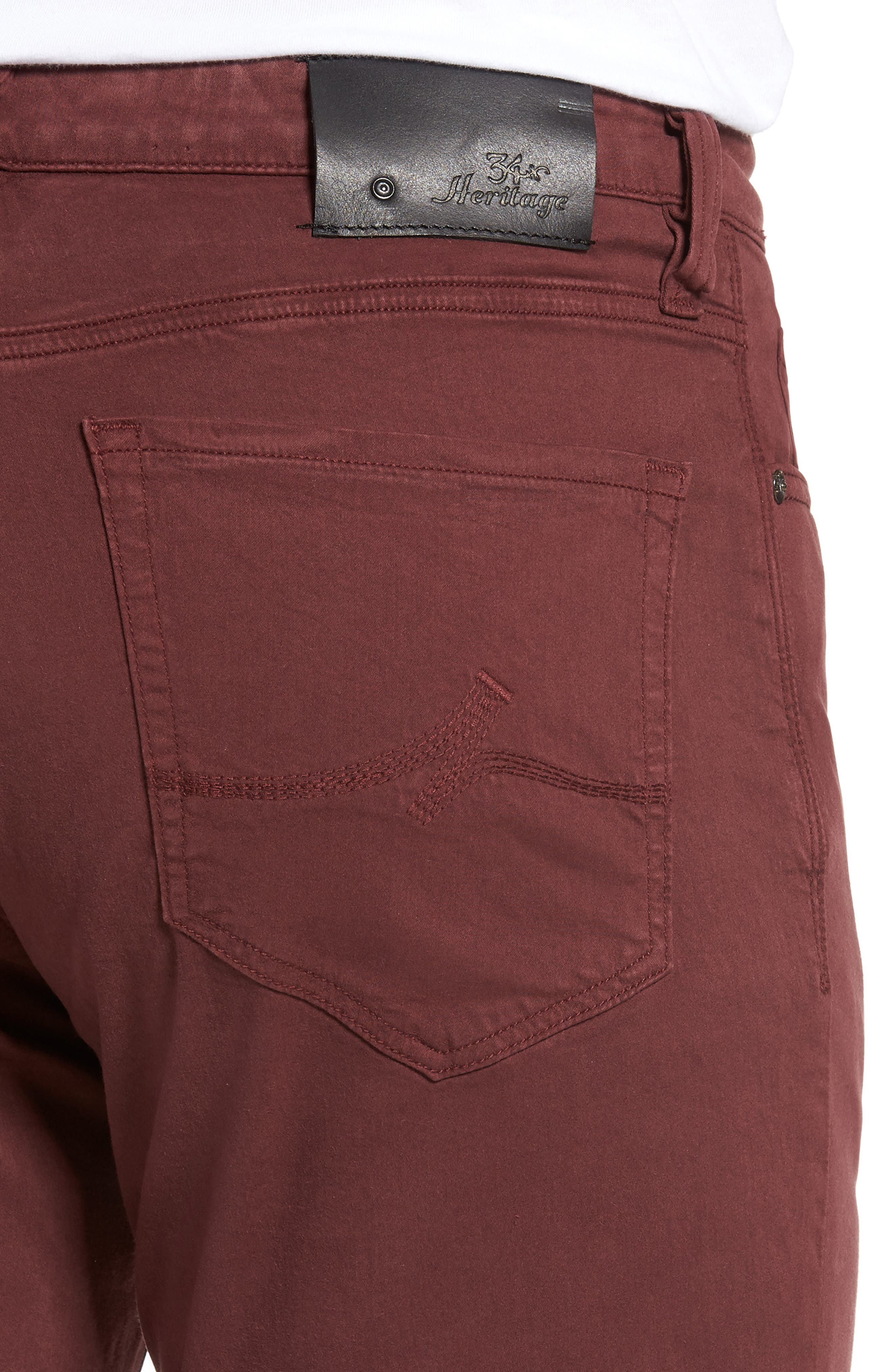 Charisma Relaxed Fit Pants,                             Alternate thumbnail 4, color,                             BORDEAUX TWILL