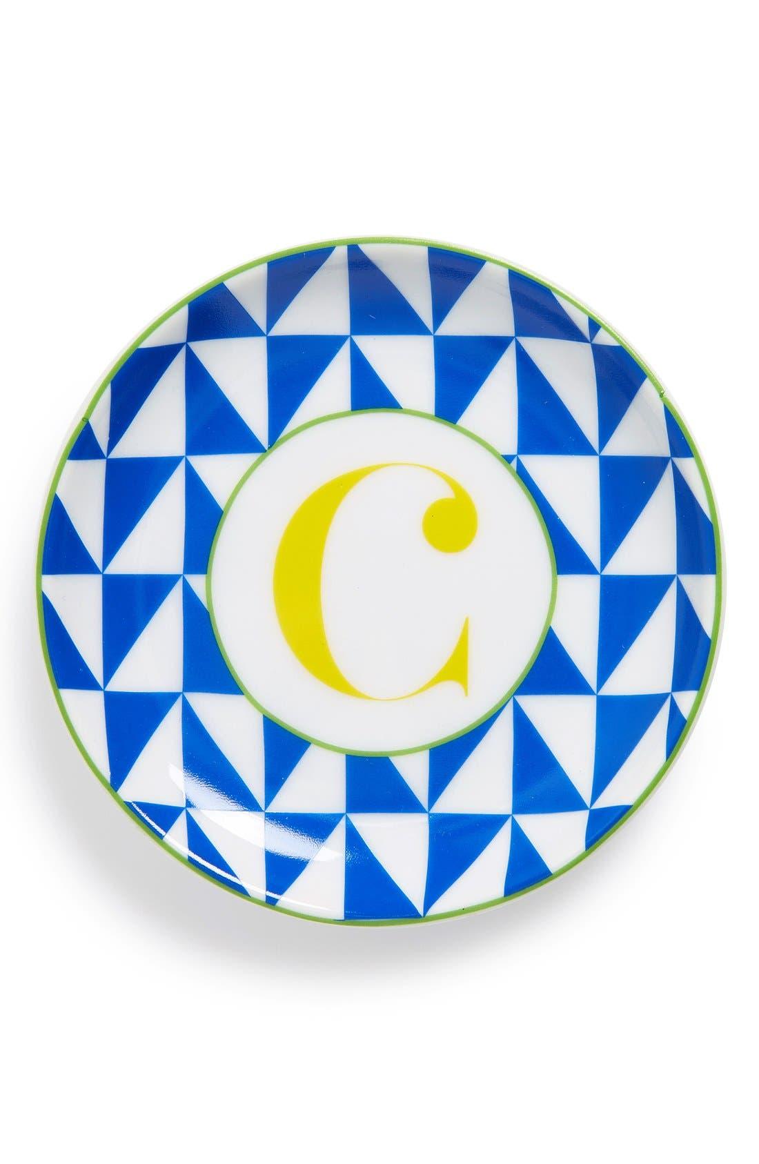 'L'Alphabet' Porcelain Tray,                             Main thumbnail 5, color,