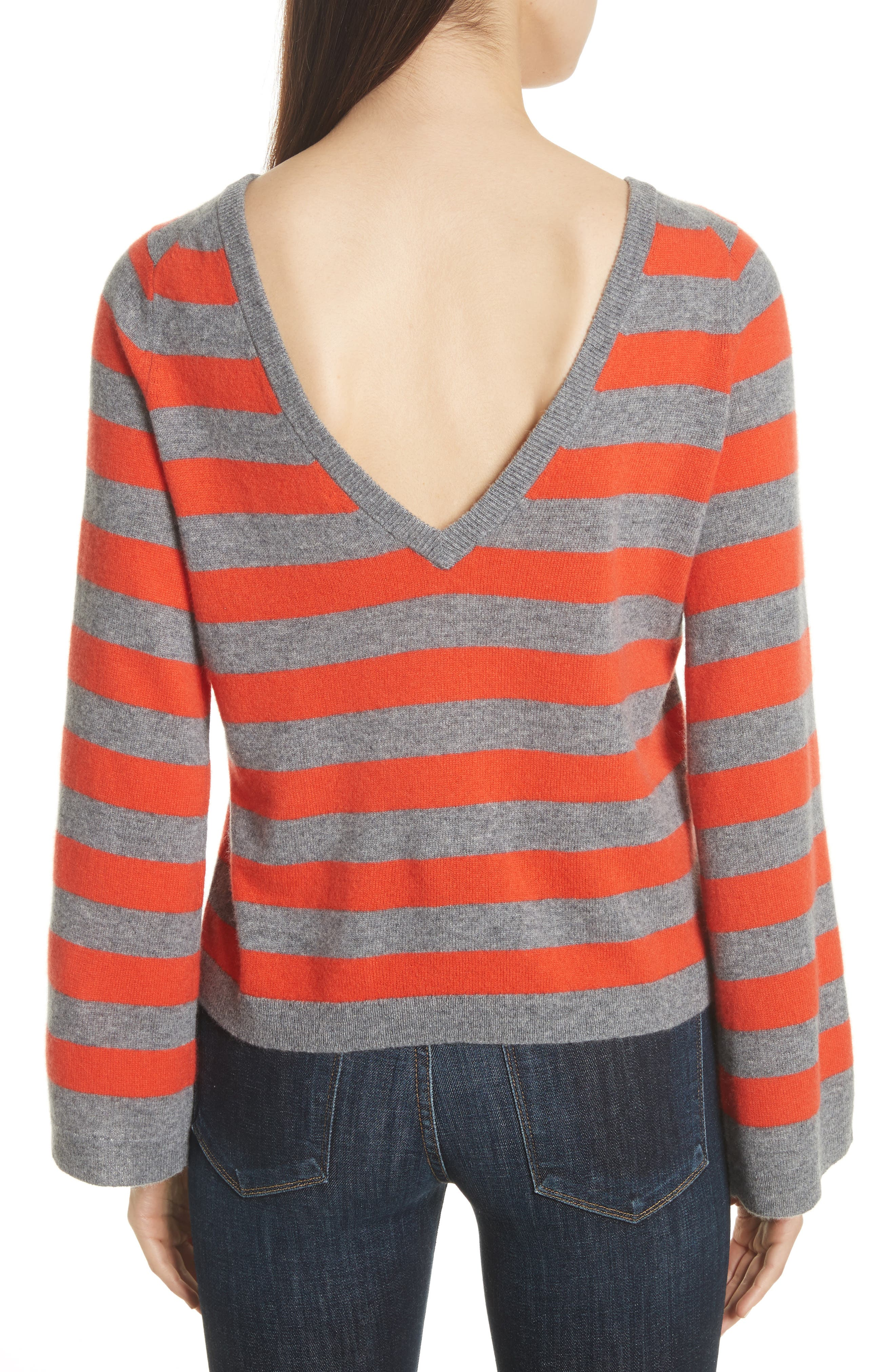 Baxley Stripe Cashmere Sweater,                             Alternate thumbnail 2, color,