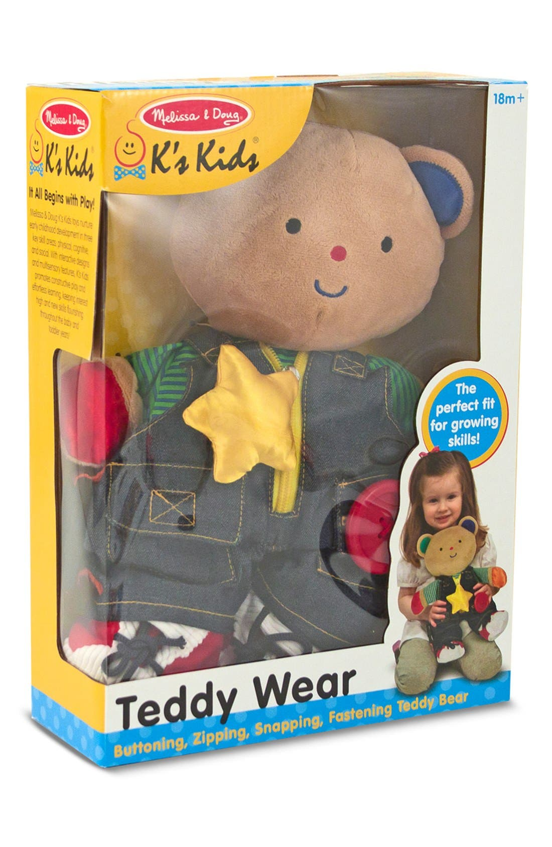 'Teddy Wear' Plush Toy,                             Alternate thumbnail 4, color,                             BROWN