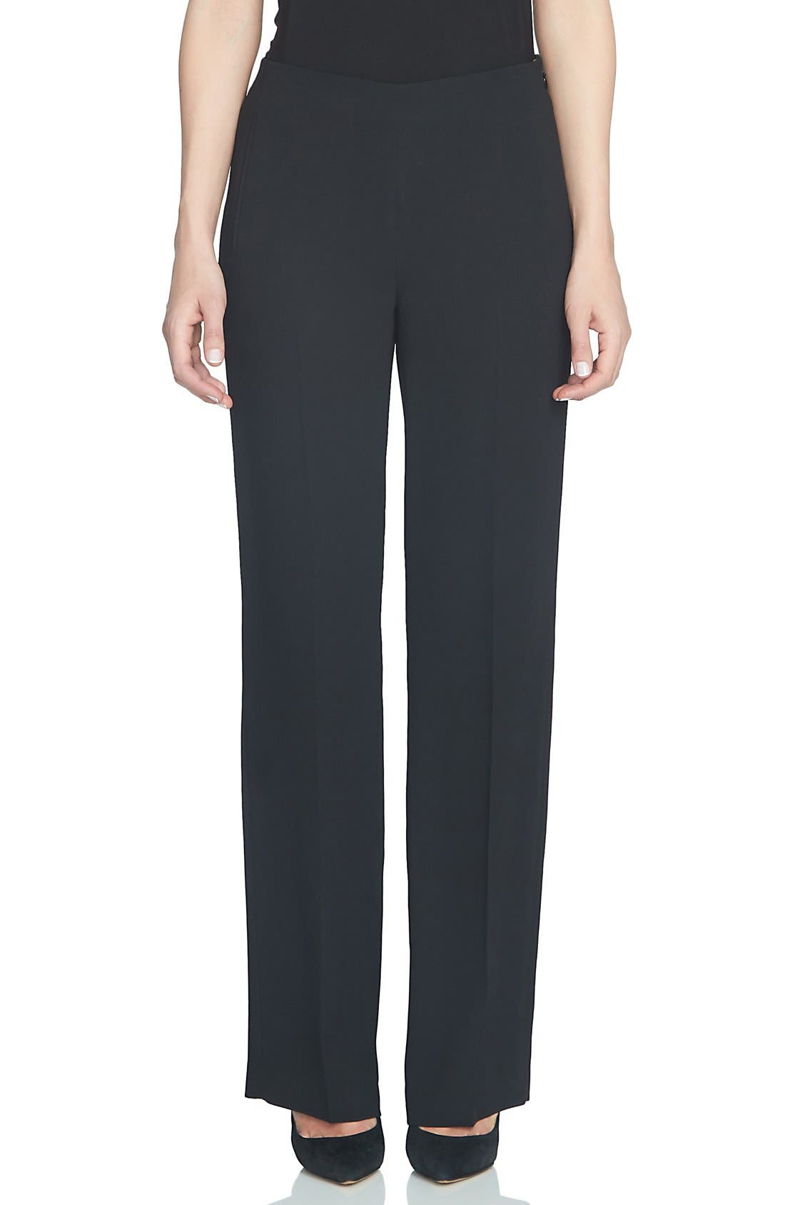 Crepe Straight Leg Pants,                         Main,                         color, 006
