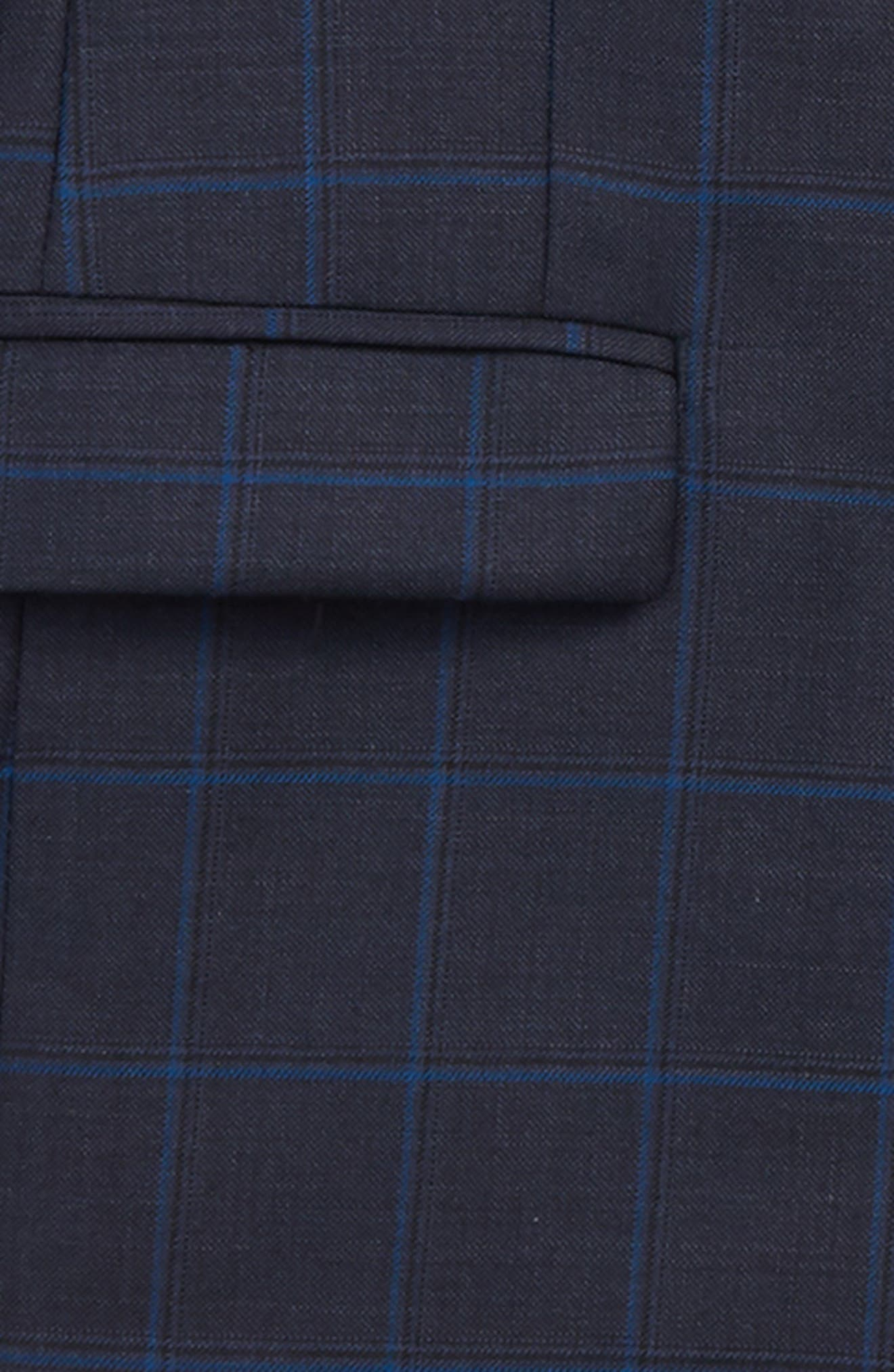 Two-Piece Plaid Wool Suit,                             Alternate thumbnail 2, color,                             BLUE