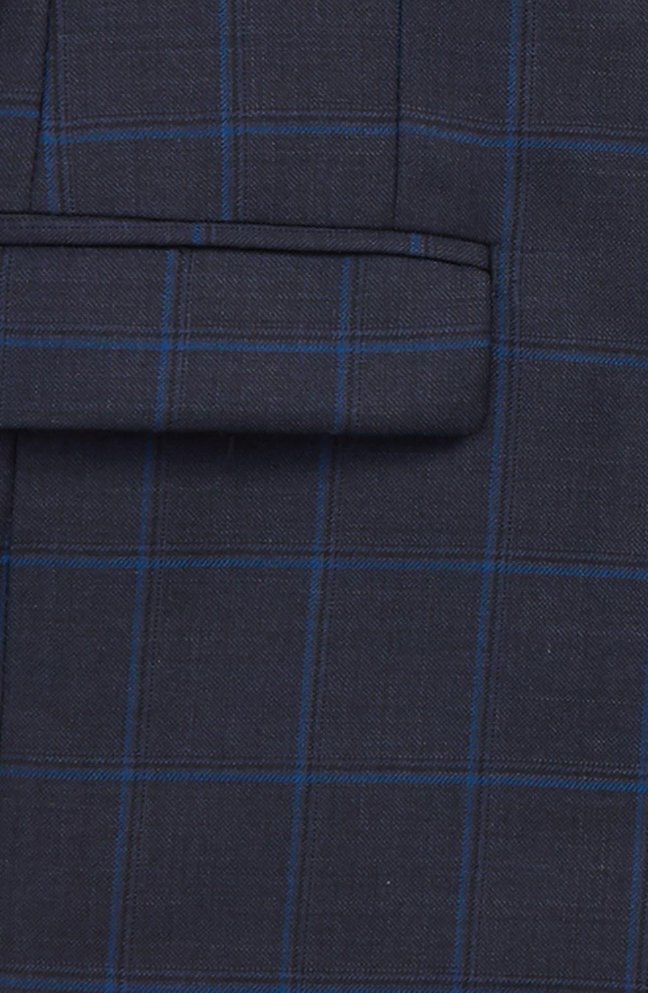 Two-Piece Plaid Wool Suit,                             Alternate thumbnail 2, color,                             BLUE