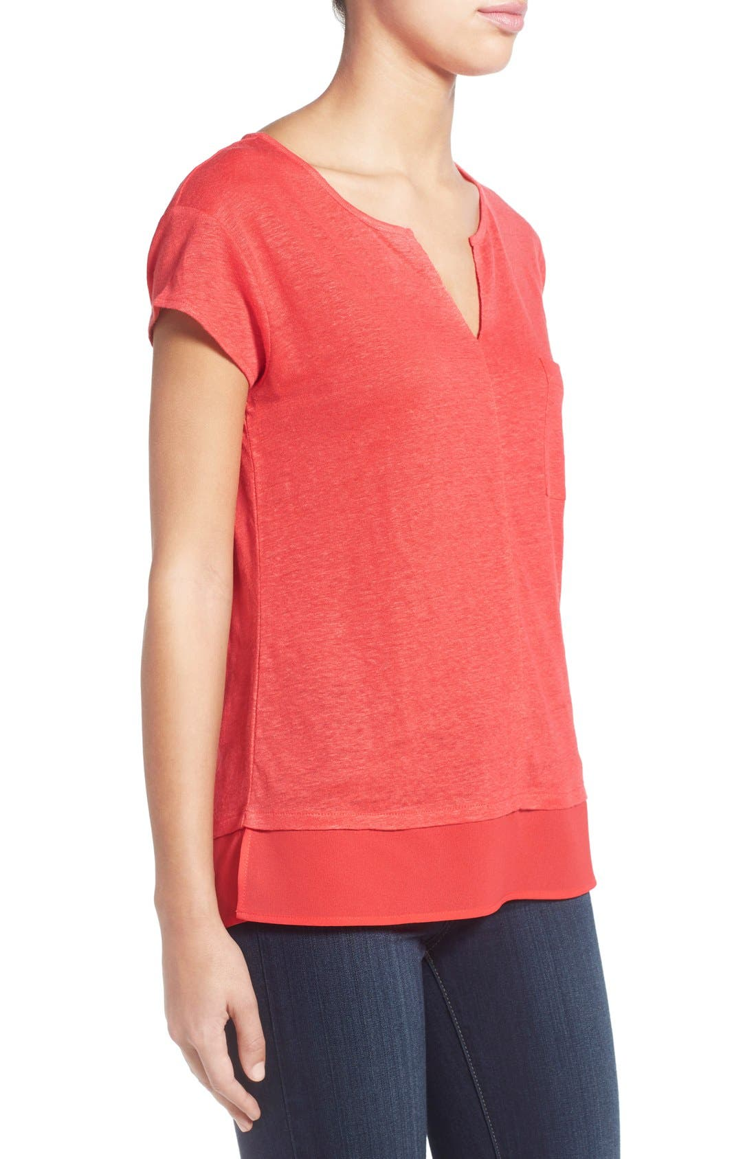 City Mix Layered Look Tee,                             Alternate thumbnail 83, color,