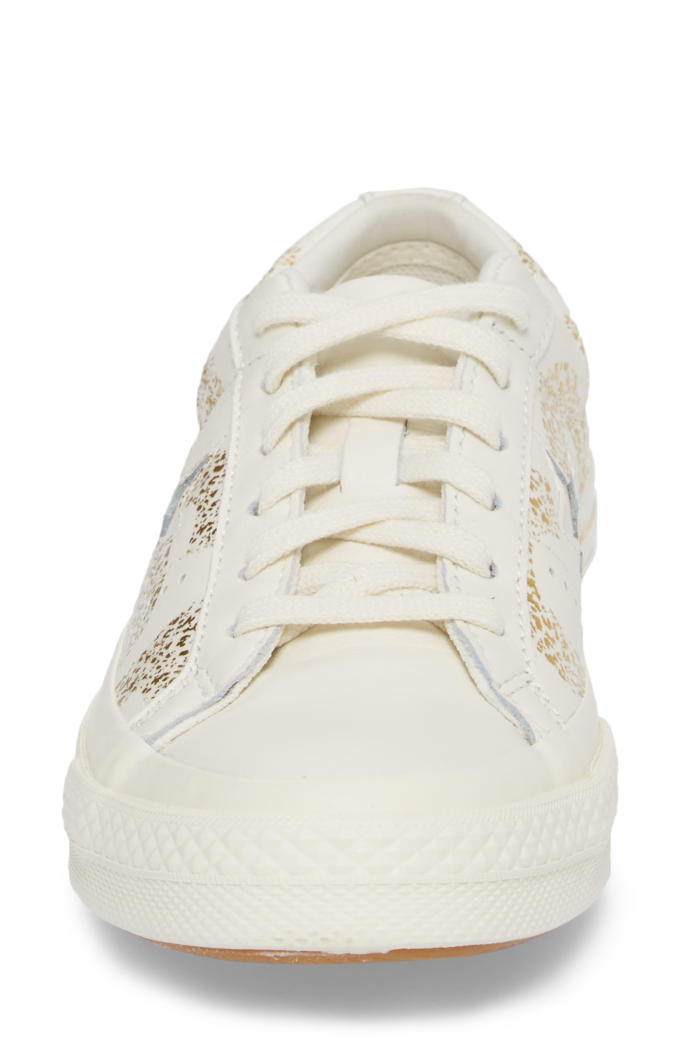 One Star Wordmark Sneaker,                             Alternate thumbnail 4, color,                             100
