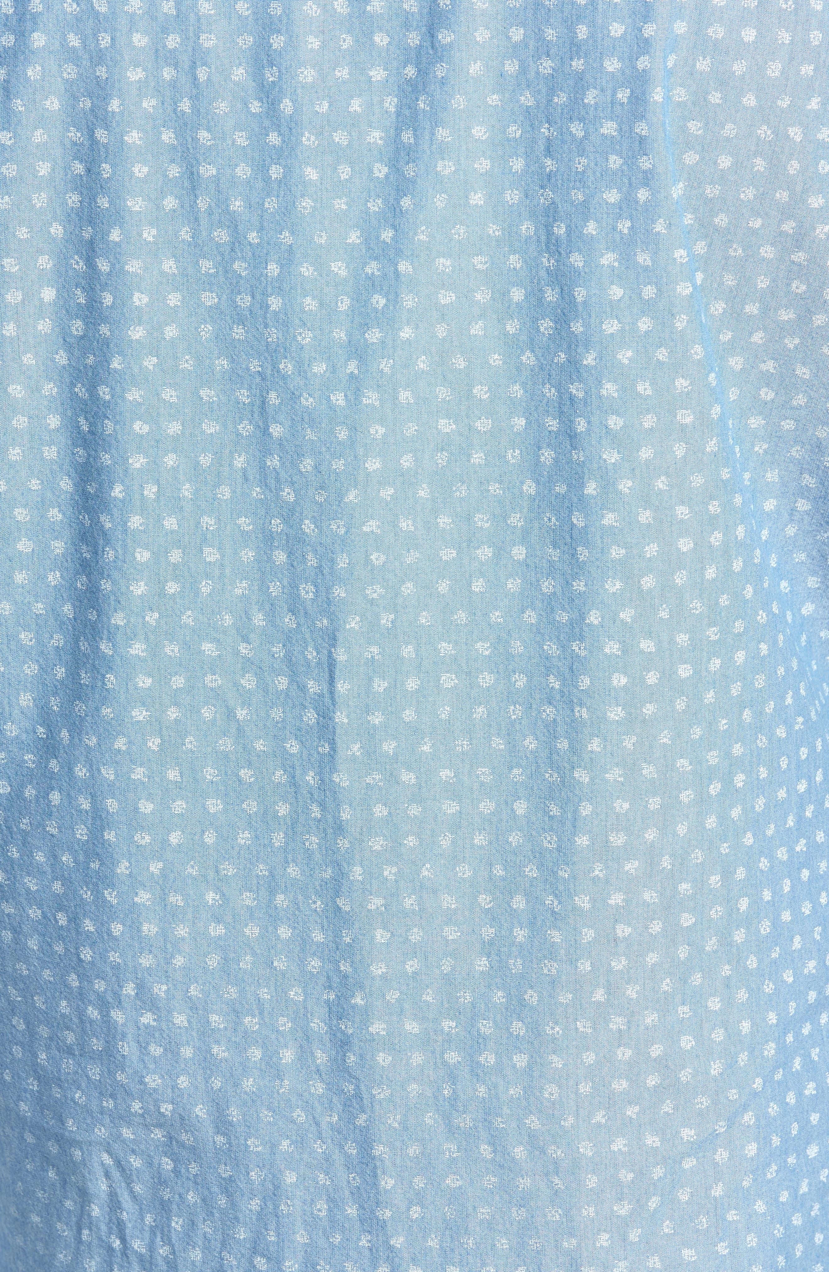 Ivy Trim Fit Dot Sport Shirt,                             Alternate thumbnail 5, color,                             420