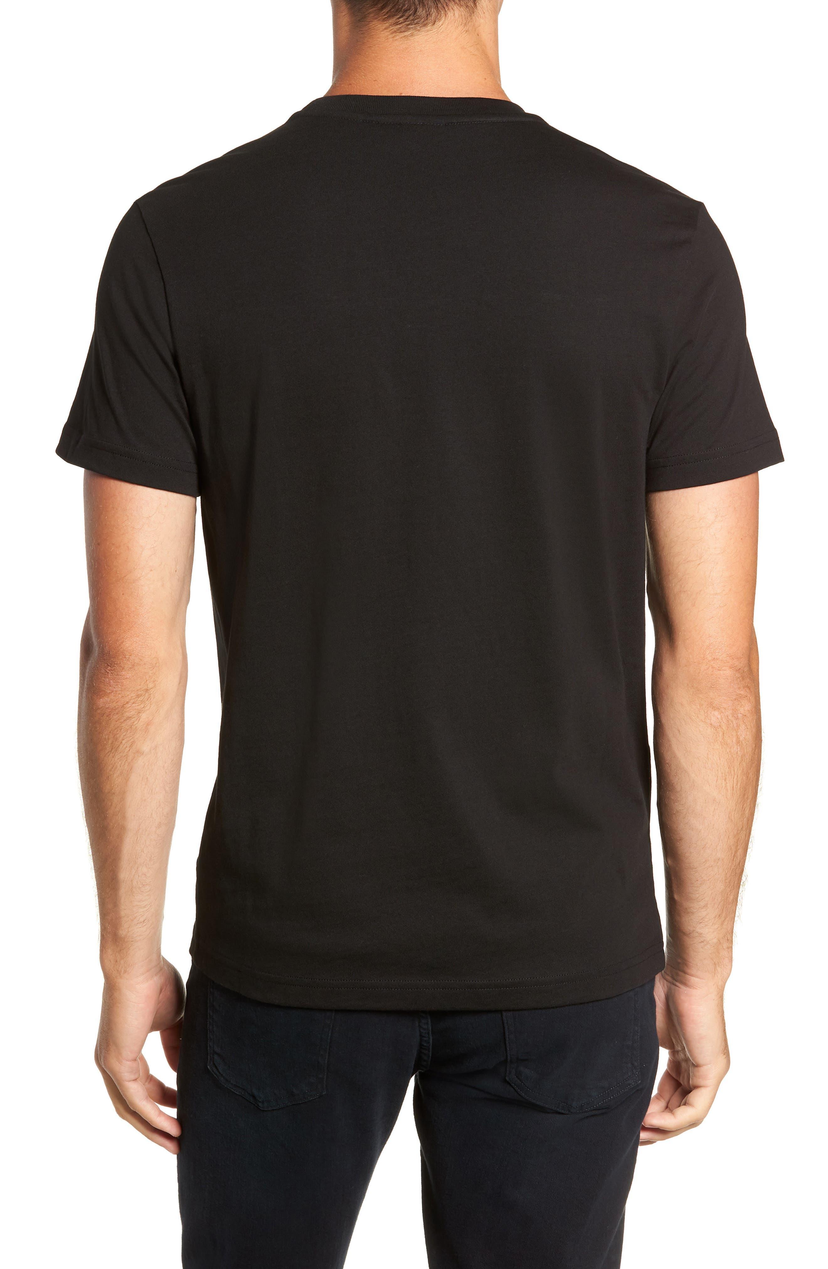 Crocodile T-Shirt,                             Alternate thumbnail 2, color,                             BLACK/ RED