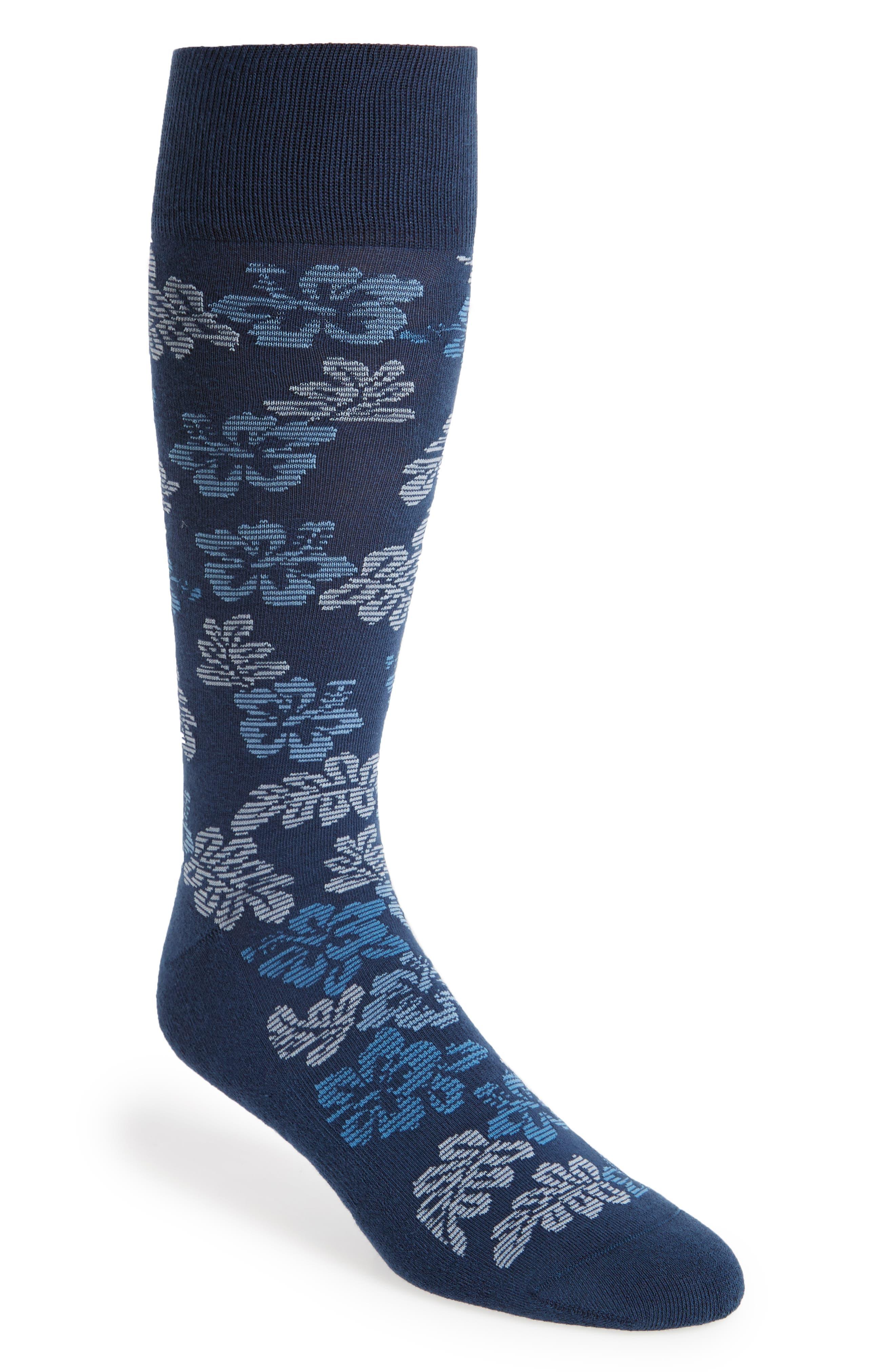 Hibiscus Vibe Socks,                             Main thumbnail 1, color,                             410