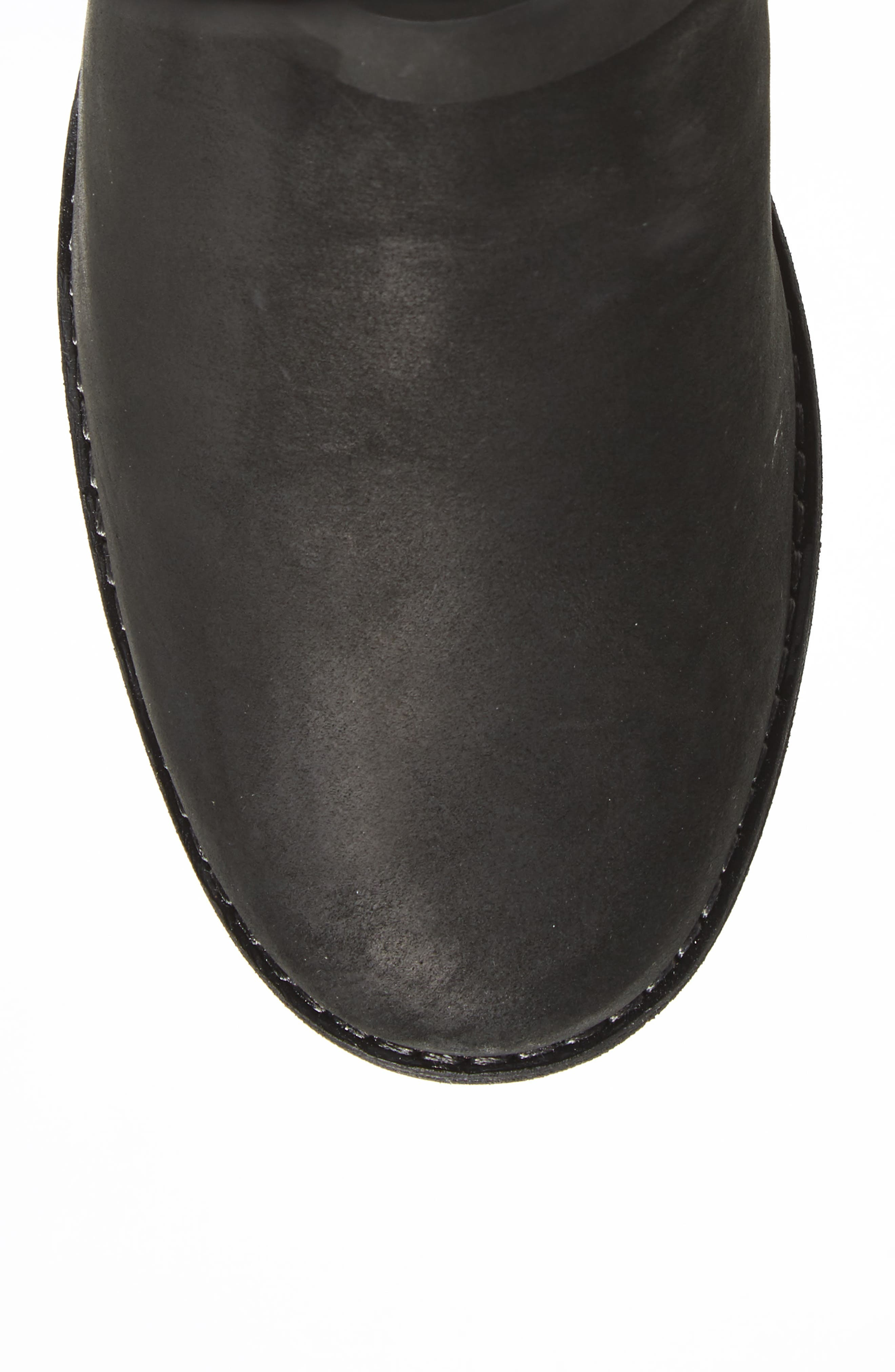 De La Vina Waterproof Boot,                             Alternate thumbnail 4, color,                             BLACK LEATHER