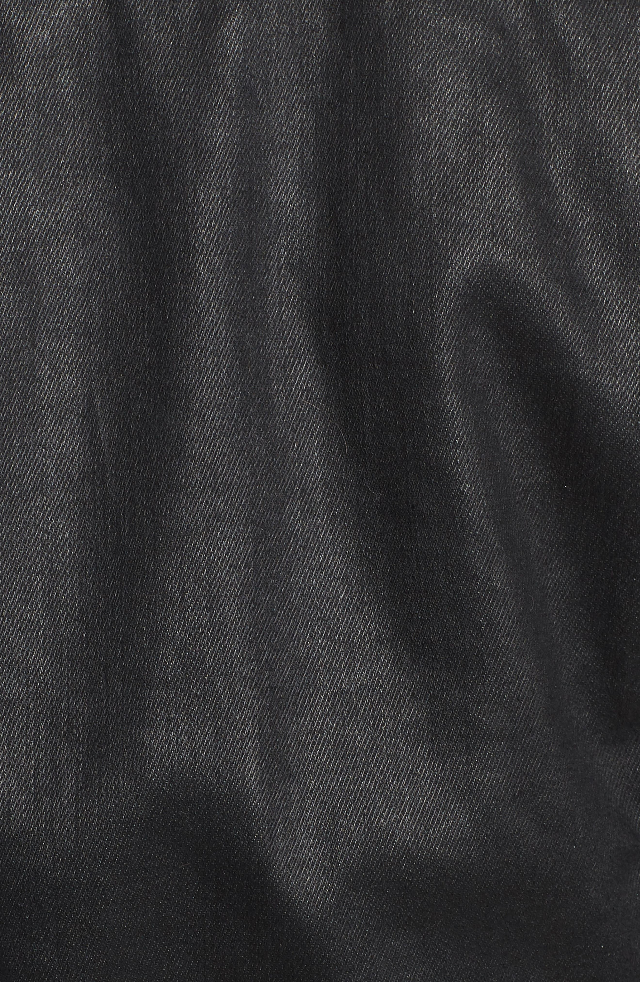 'Robyn' Denim Jacket,                             Alternate thumbnail 7, color,                             LACQUERED PURE BLACK
