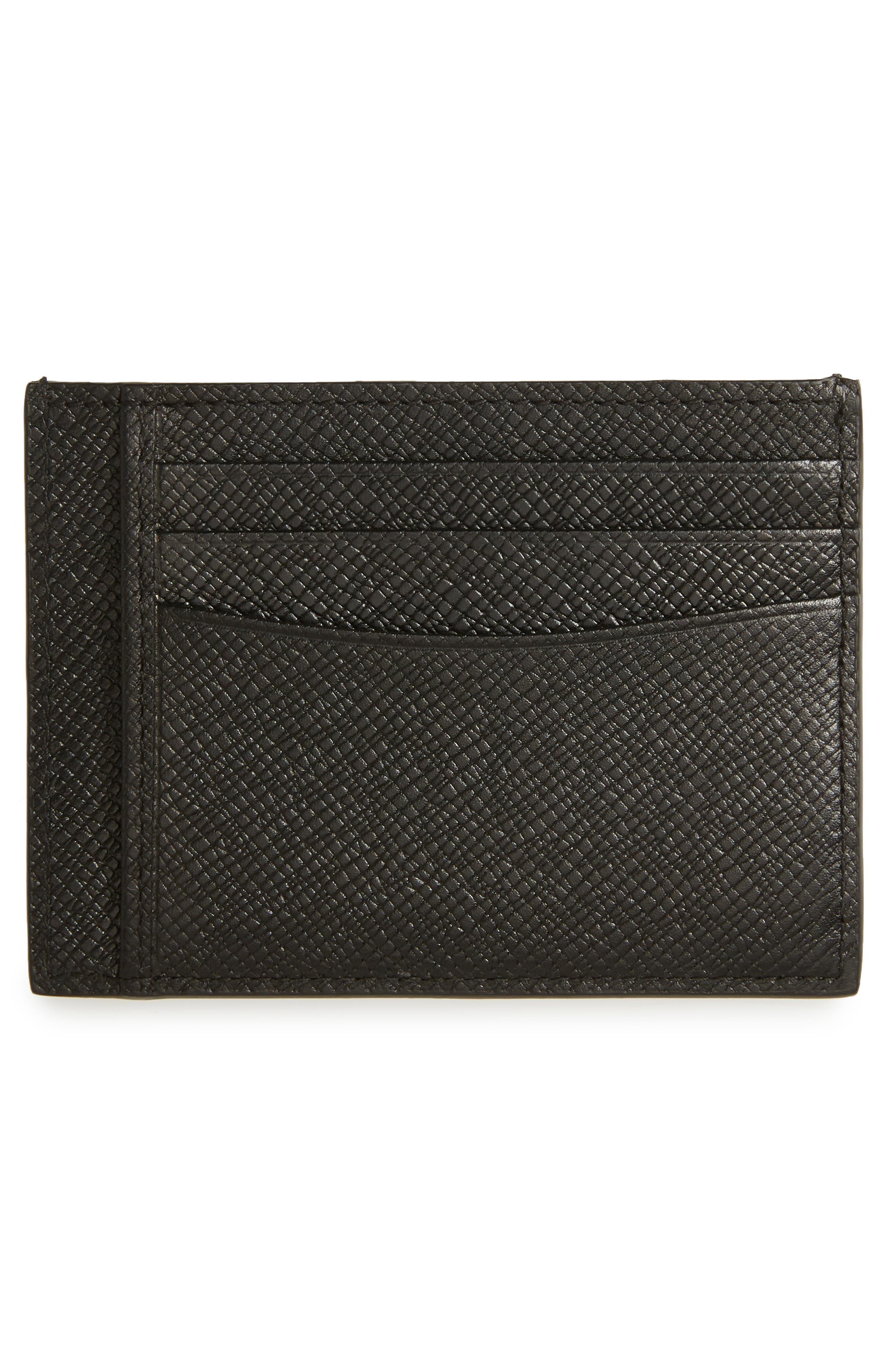 Signature Leather Card Case,                             Alternate thumbnail 2, color,                             016